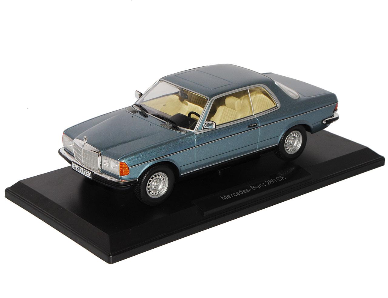 Mercedes-Benz E-Klasse Coupe 280 CE C123 Blau Silber 1975-1986 1//18 Norev Mode..