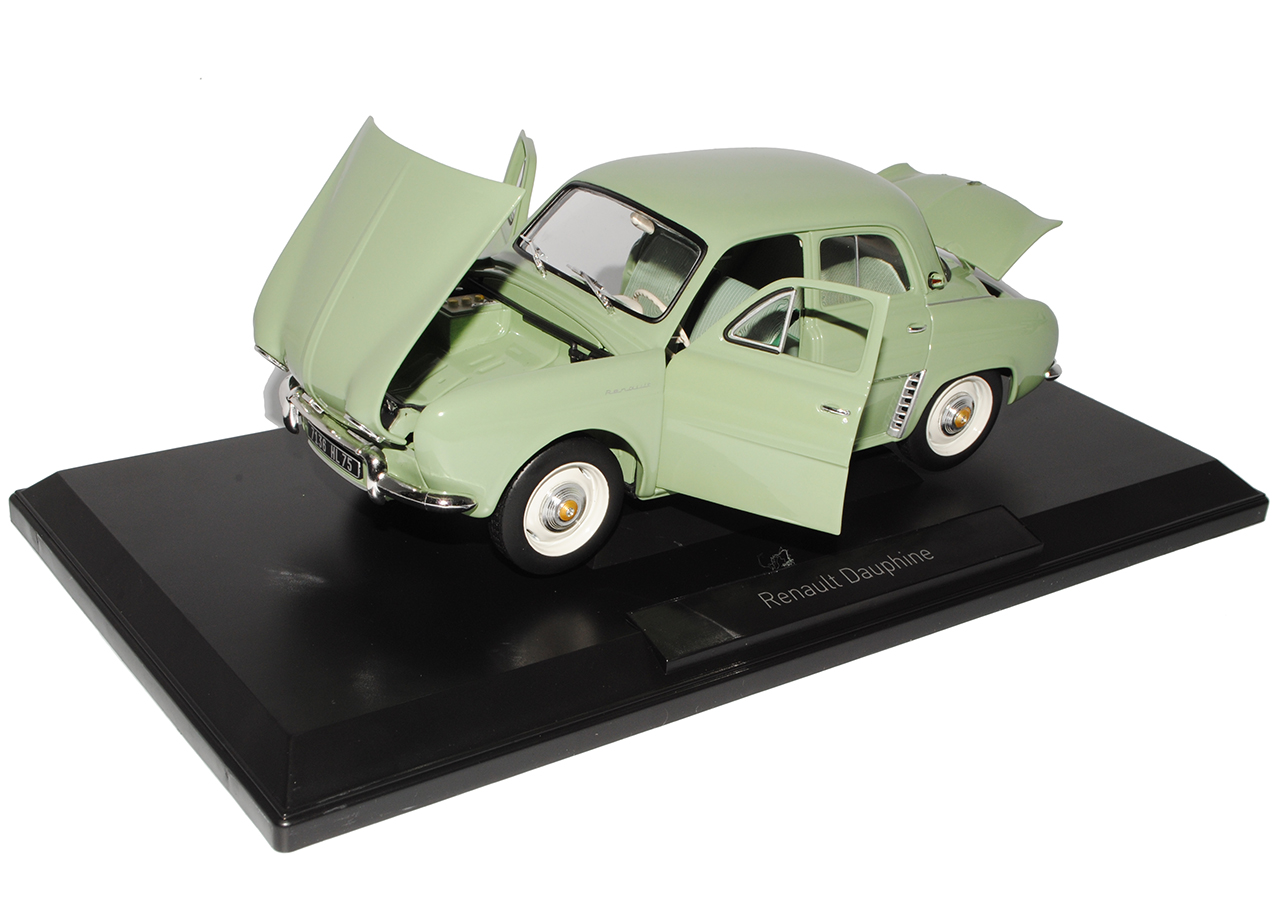 RENAULT DAUPHINE BERLINA VERDE 1956-1968 1//18 NOREV modello auto con o senza...