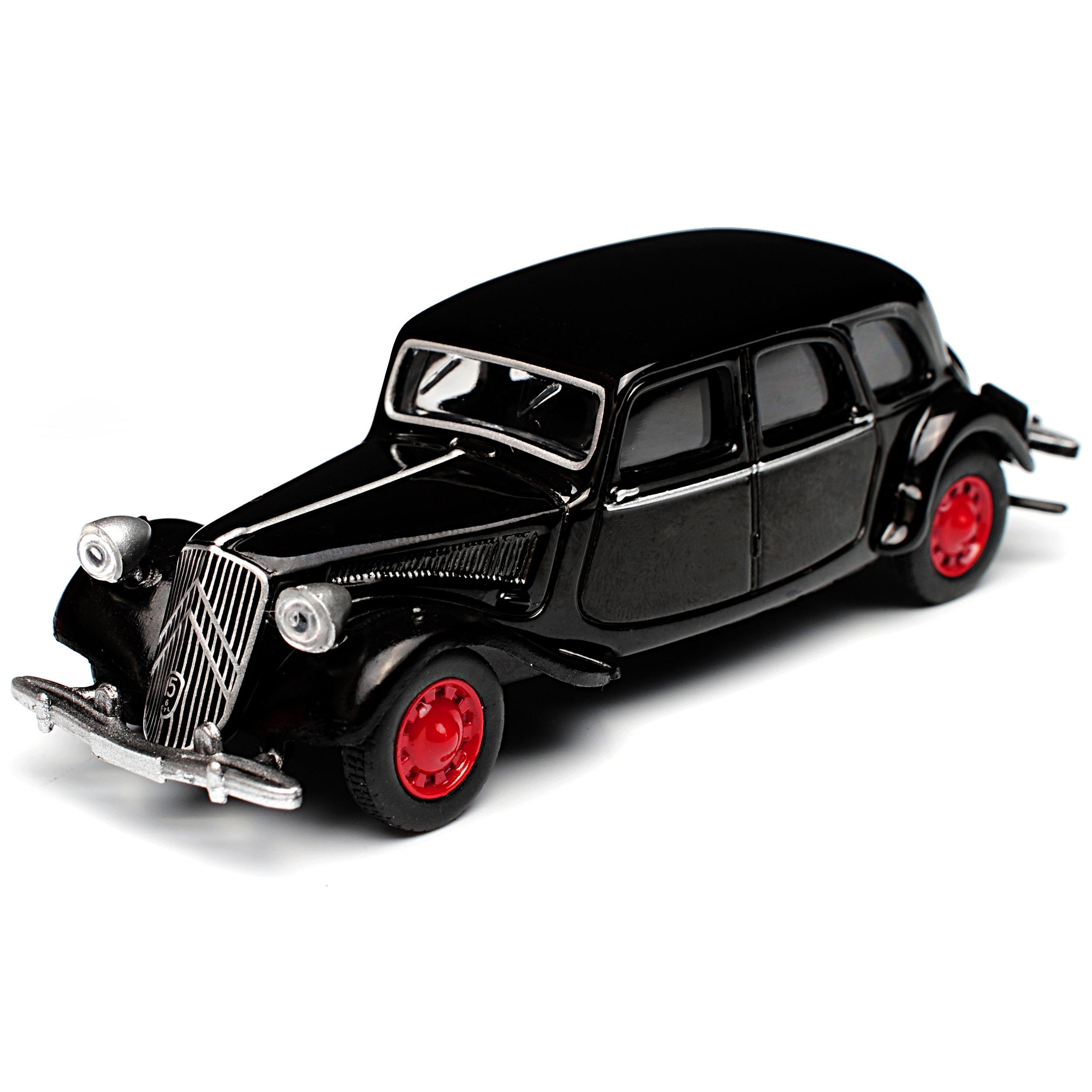 Citroen Traction 15 6 Schwarz 1939 1//64 Norev Modell Auto mit oder ohne indivi..