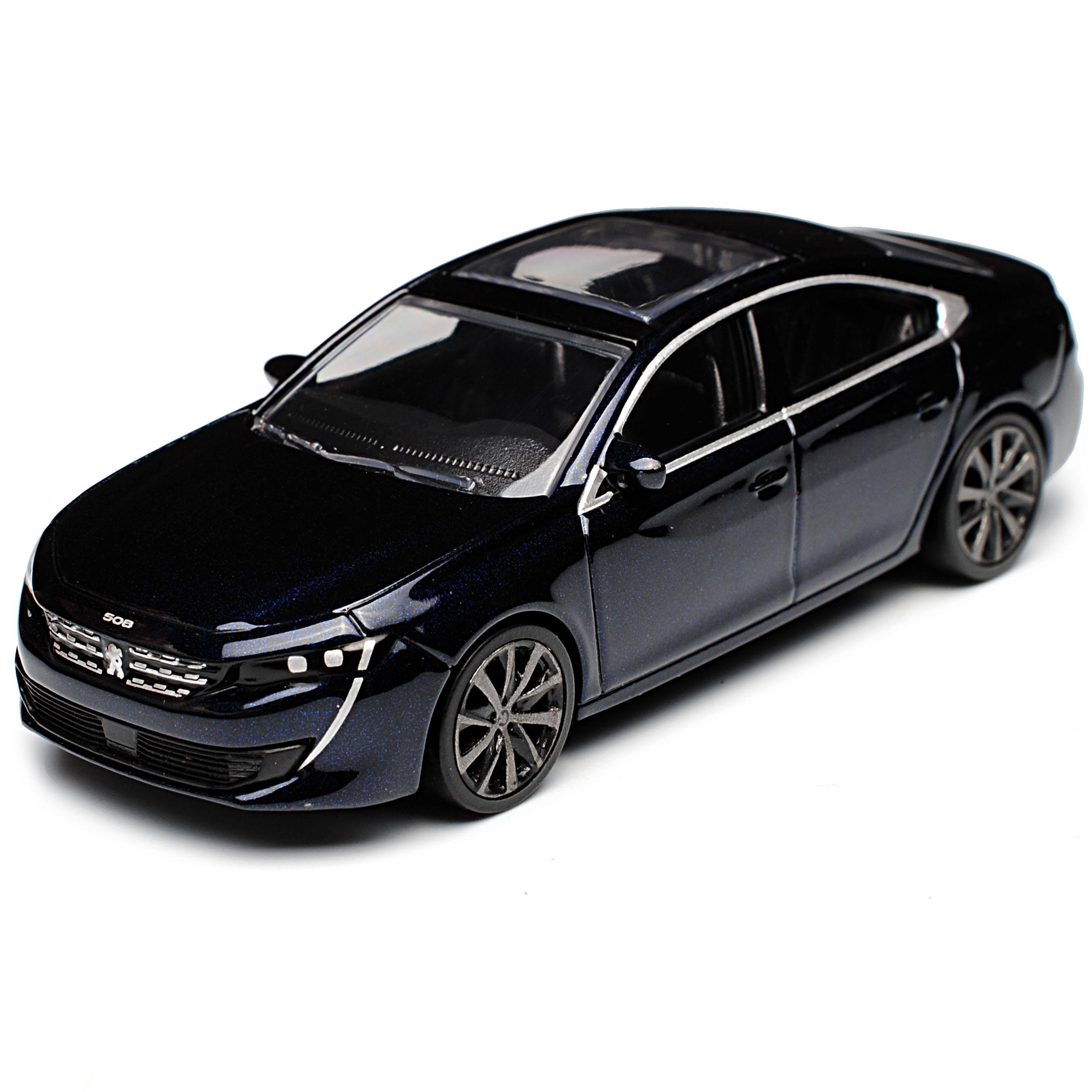 Peugeot 508 II GT Limousine Dunkel Blau 2 Generation Ab 2018 1//64 Norev Model..
