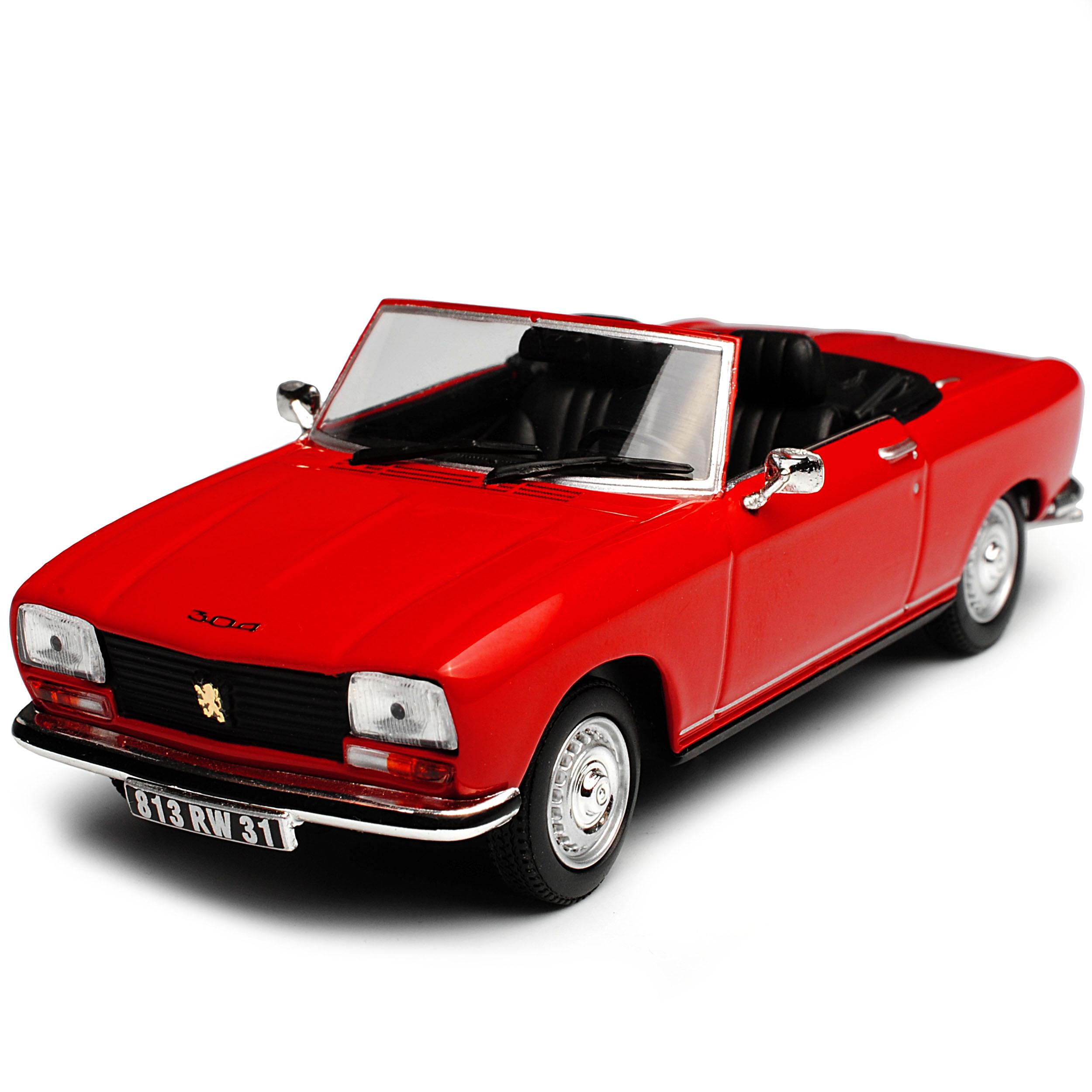 Peugeot 304 Cabriolet S Rot 1969-1980 1//43 Norev Modell Auto mit oder ohne ind..