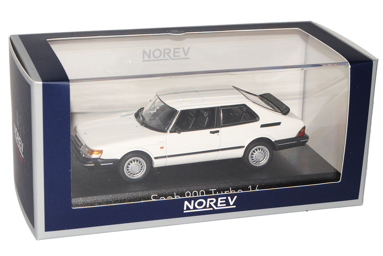 Saab 900 Turbo 16 Weiss Coupe 1991 Generation 1978-1994 1//43 Norev Modell Auto..