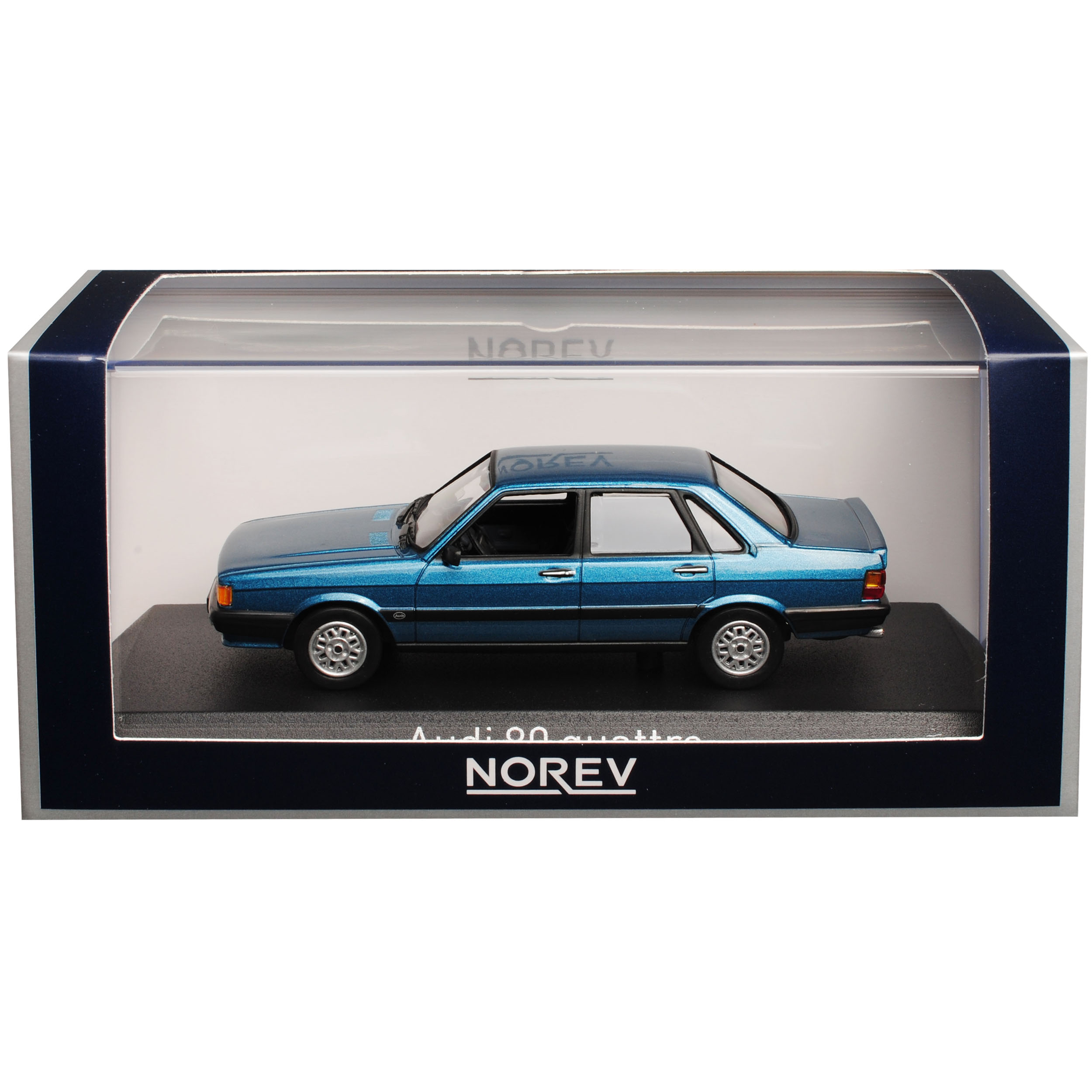 Generation 1978-1986 1//43 Norev Modell Auto mit o.. Audi 80 B2 Limousine Blau 2
