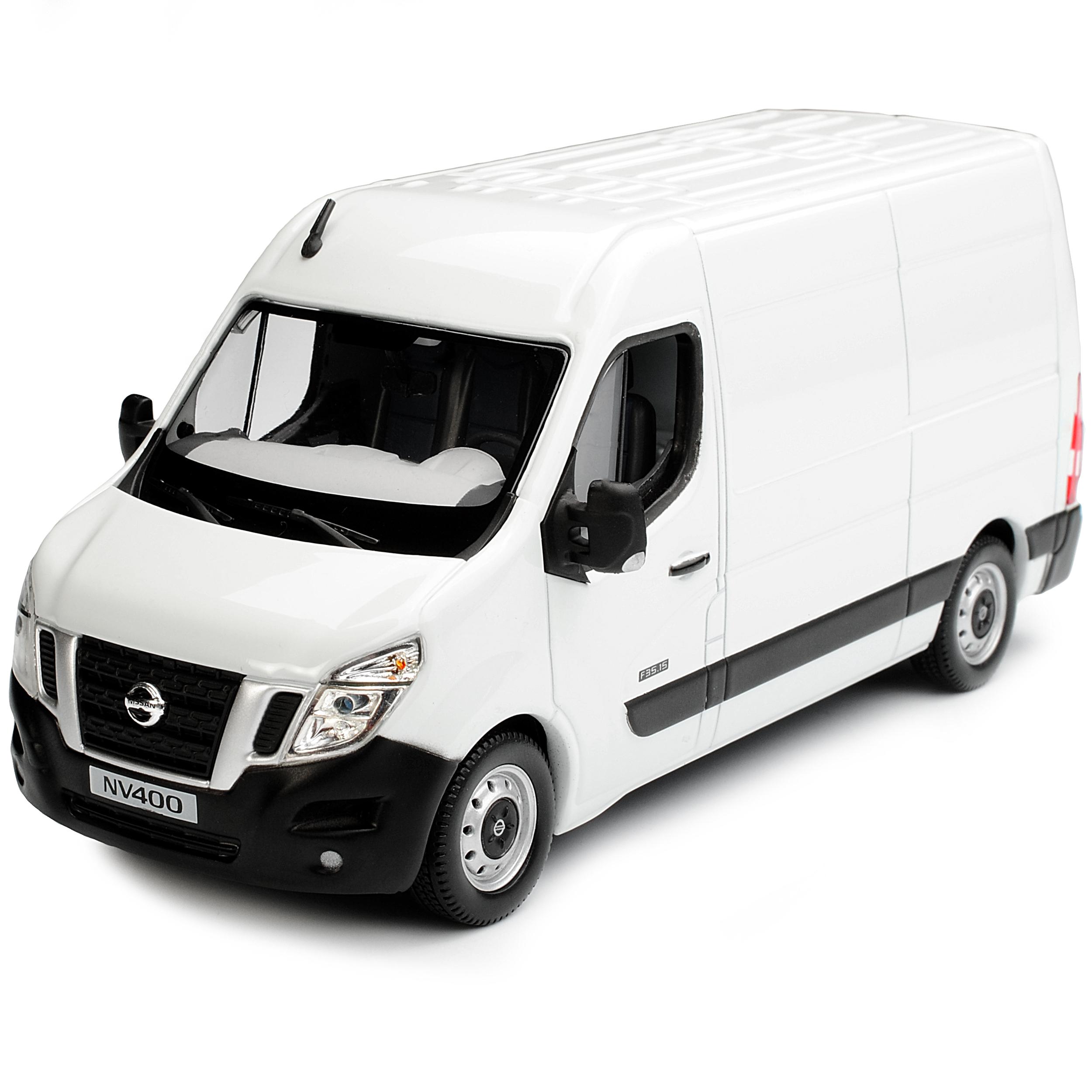 NISSAN nv400 TRANSPORTER riquadro bianco a partire dal 2010 1//43 NOREV modello auto o con...