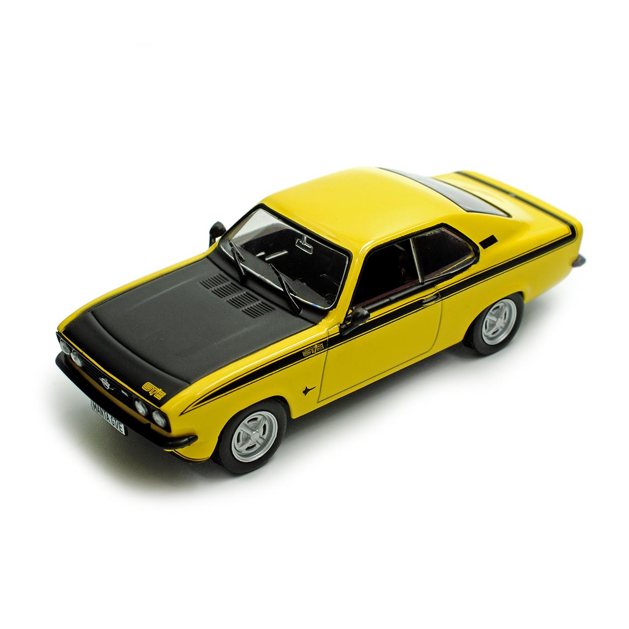 Opel Manta A GT//E Coupe Gelb Schwarz 1974-1975 Nr 101 1//43 Ixo Modell Auto mit..