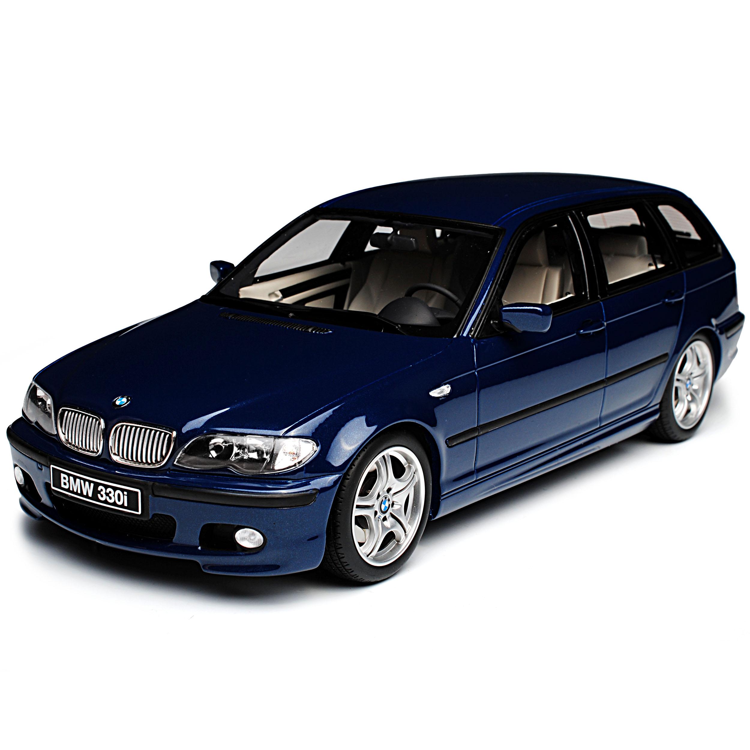 BMW 3er E46 Kombi Touring M-Paket Blau 1998-2007 Nr 251 1//18 Otto Modell Auto ..