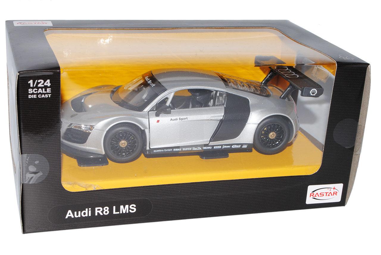 Audi r8 gt Le Mans LMS plata 1//24 Rastar modelo coche con o sin individiue...
