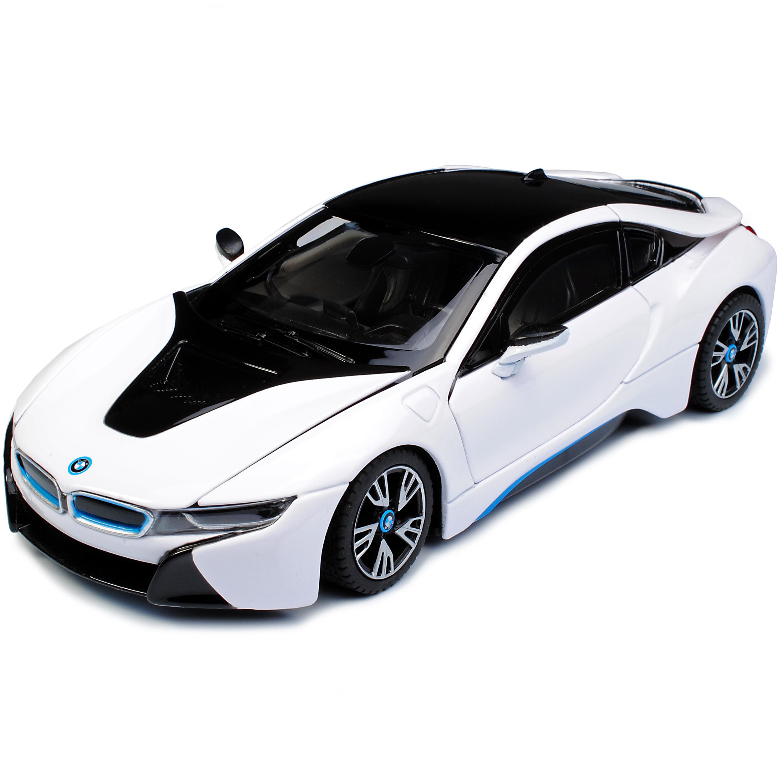 BMW I8 Coupe Weiss Ab 2013 1//24 Rastar Modell Auto mit oder ohne individiuelle..