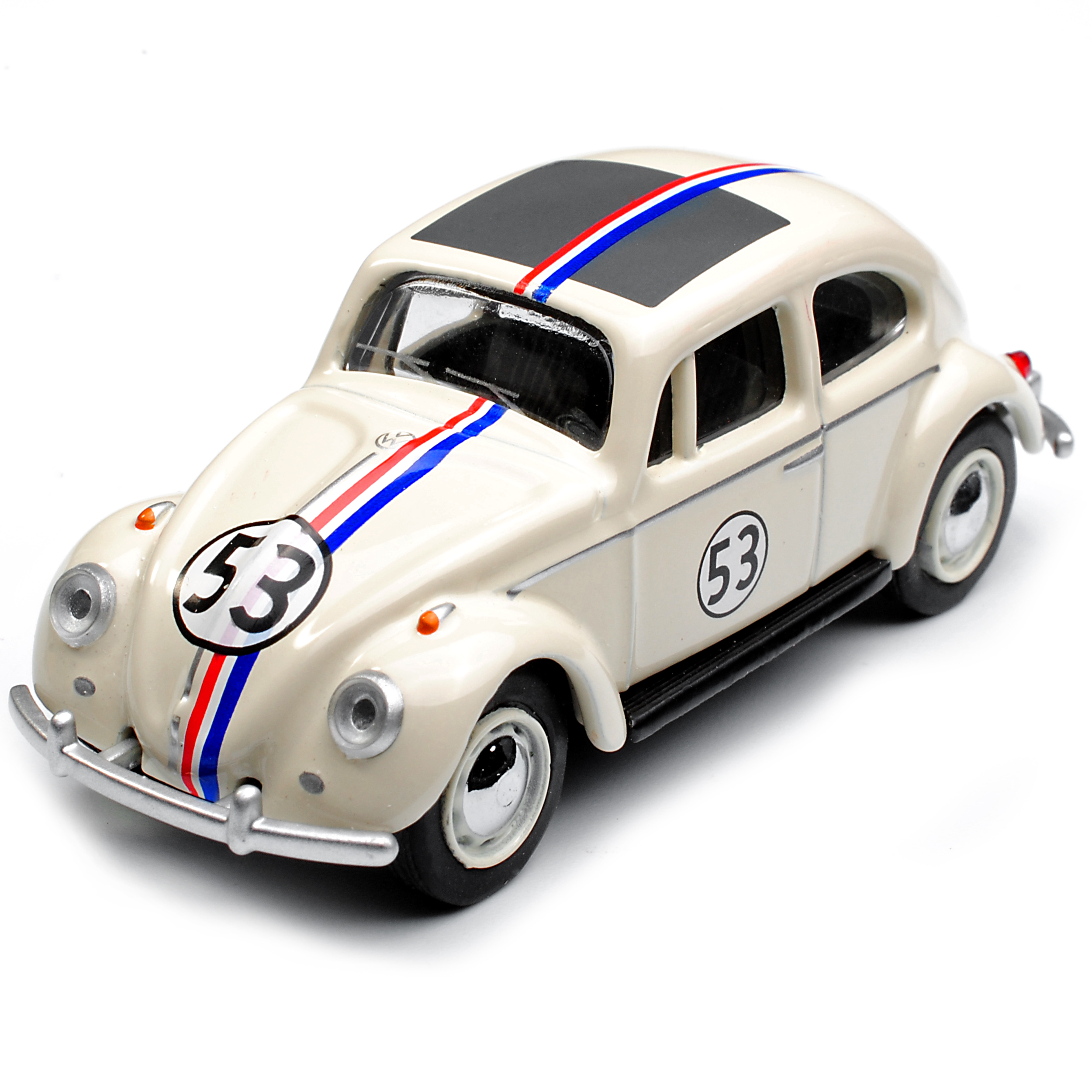VW Volkswagen escarabajo Coupe Herbie rally nº 53 crema blanca 1//64 SCHUCO modelo au...