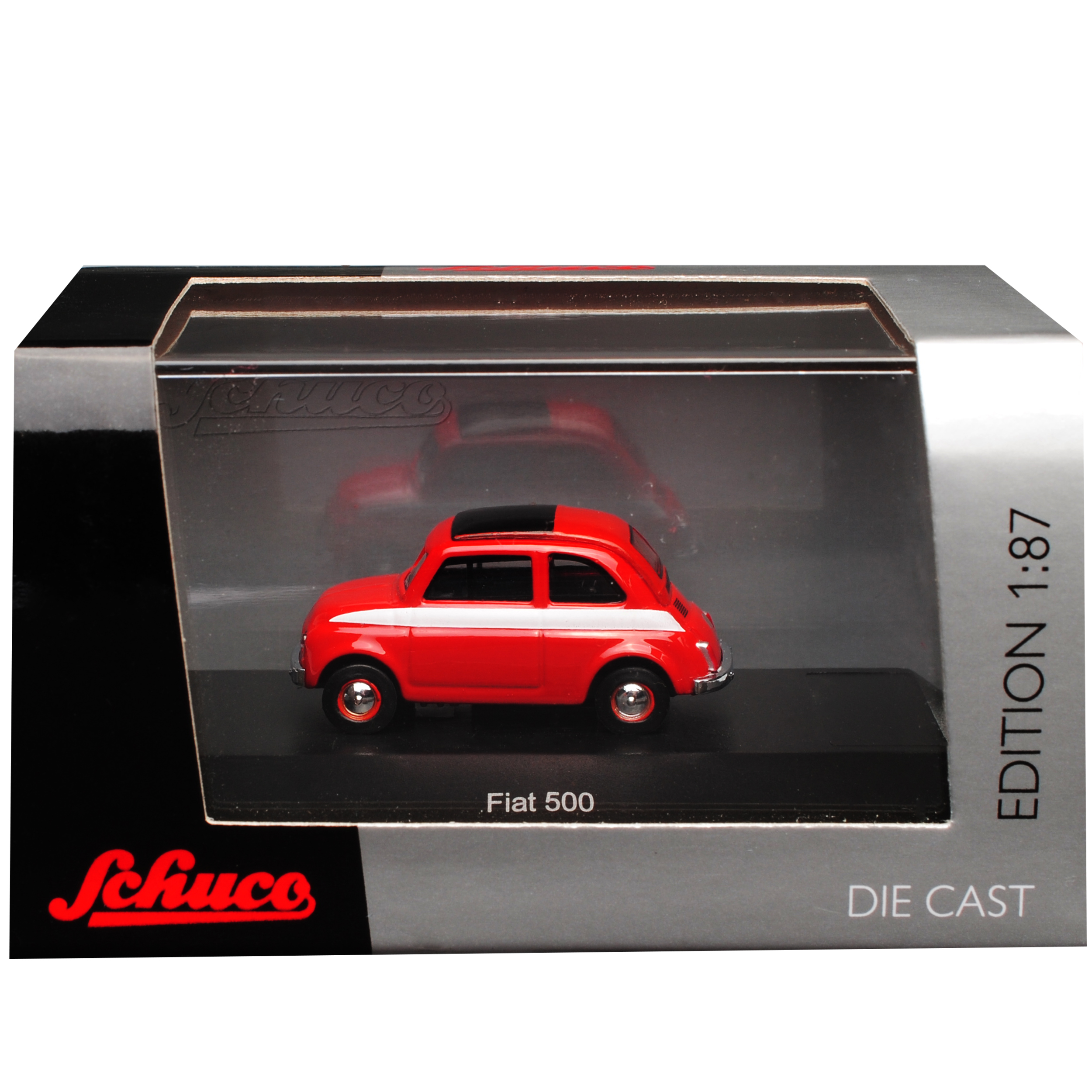Fiat 500 Klassik Rot Ur Modell ab 1957 H0 1//87 Schuco Modell Auto mit oder ohn..
