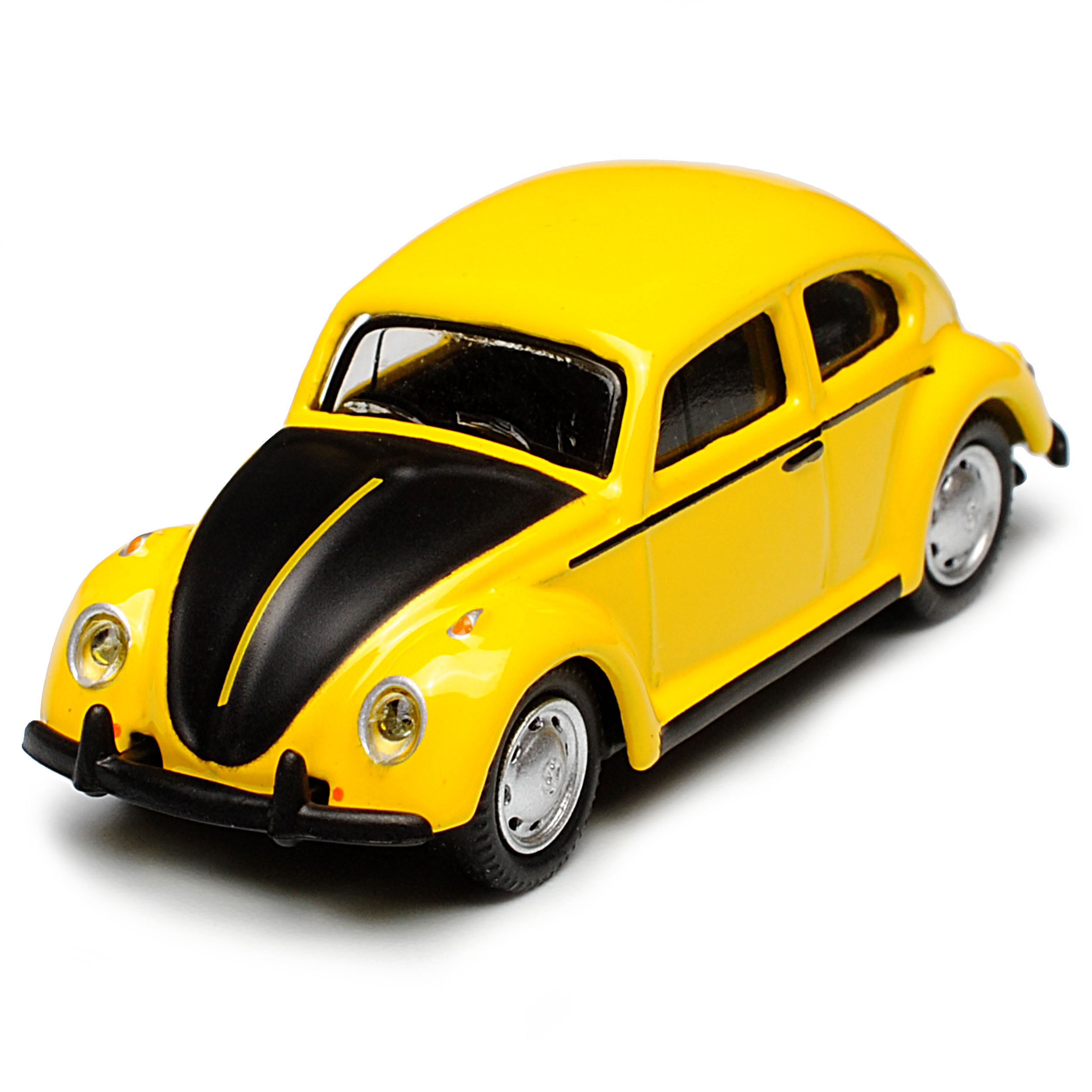 VW Volkswagen Käfer Gelb Schwarz H0 1//87 Schuco Modell Auto mit oder ohne indi..
