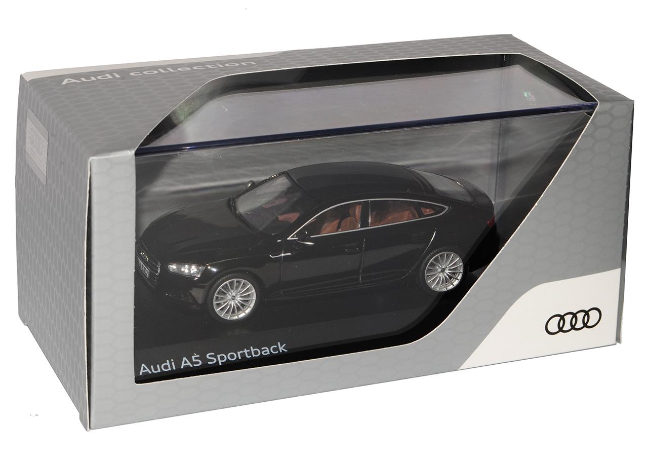 Audi A5 F5 II Sportback mito negro 2ª generación de modelo de chispa 1//43 de 2016...