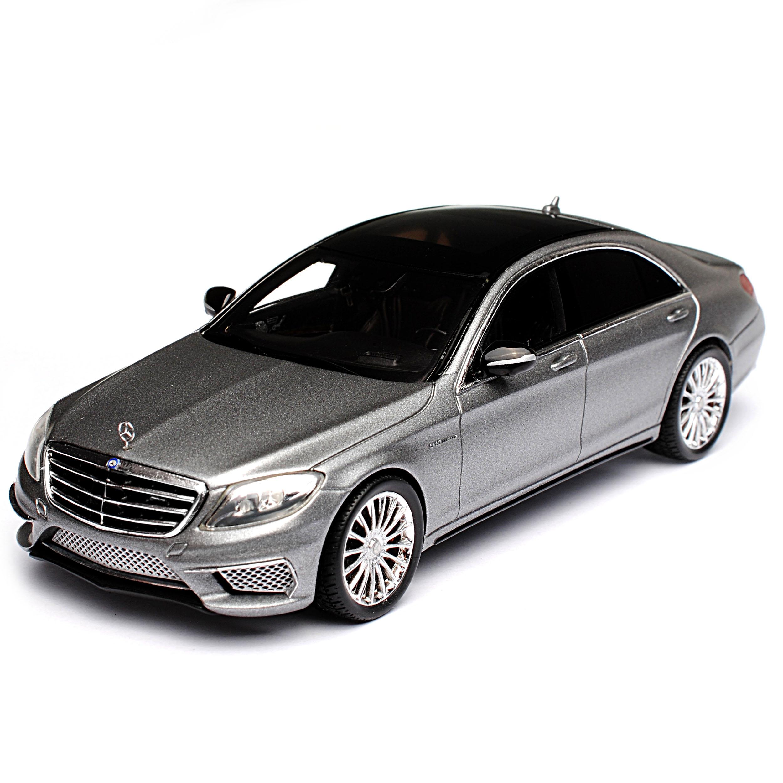 Mercedes-Benz S-Klasse W222 S65 AMG Silber Grau Ab 2013 1//43 Spark Modell Auto..