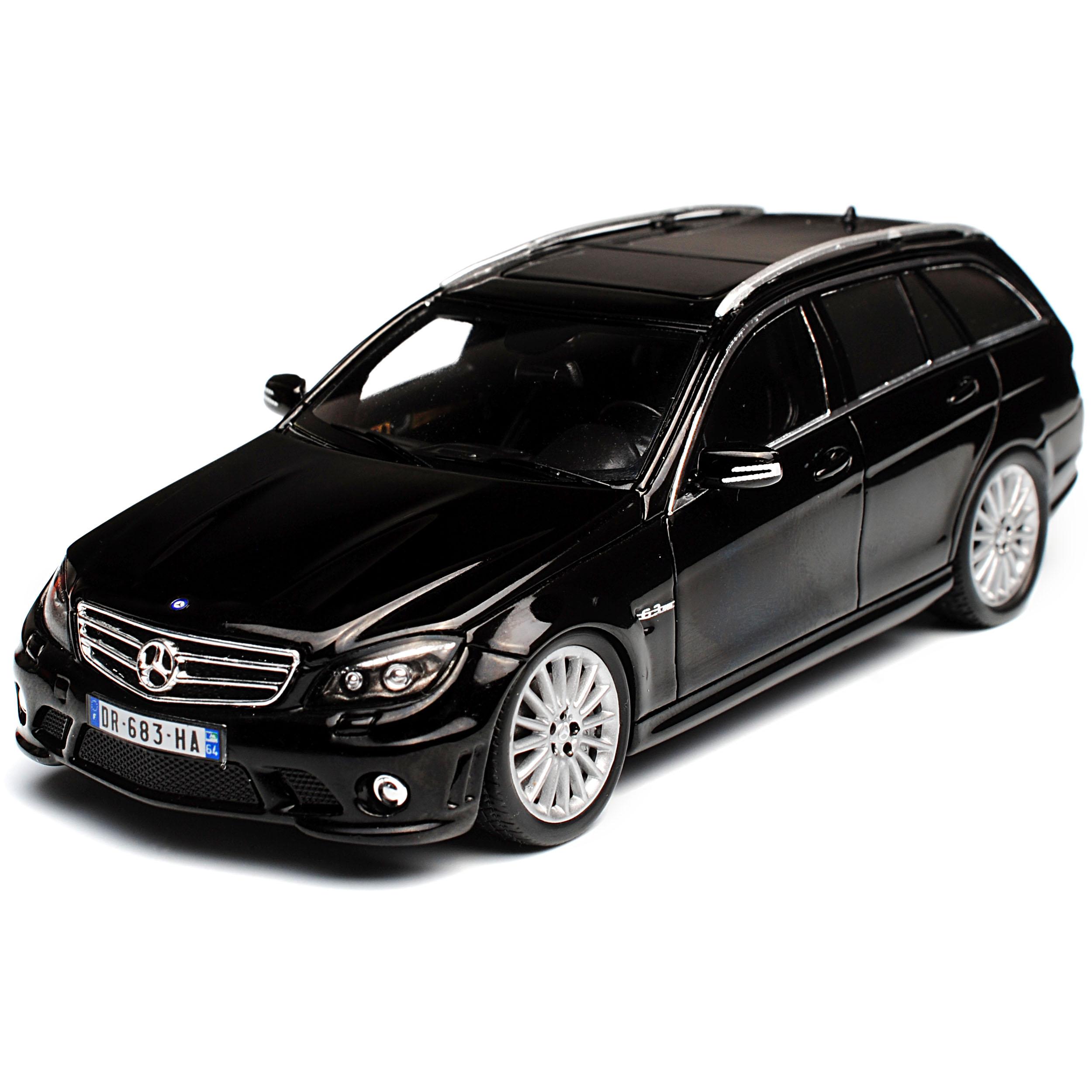 Mercedes-Benz C-Klasse C63 AMG S204 T-Modell Kombi Schwarz 2007-2014 1//43 Spar..