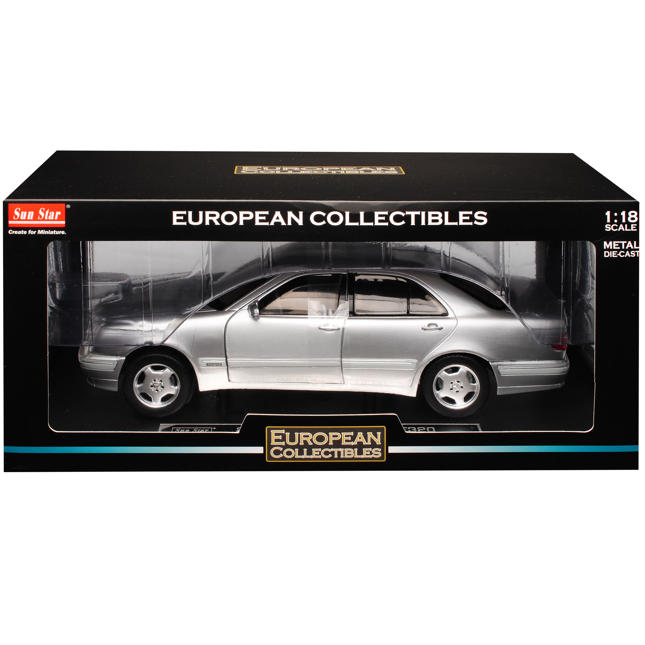 Mercedes-benz clase e w210 e320 Limousine plata 1995-2002 1//18 Sun Star moda...