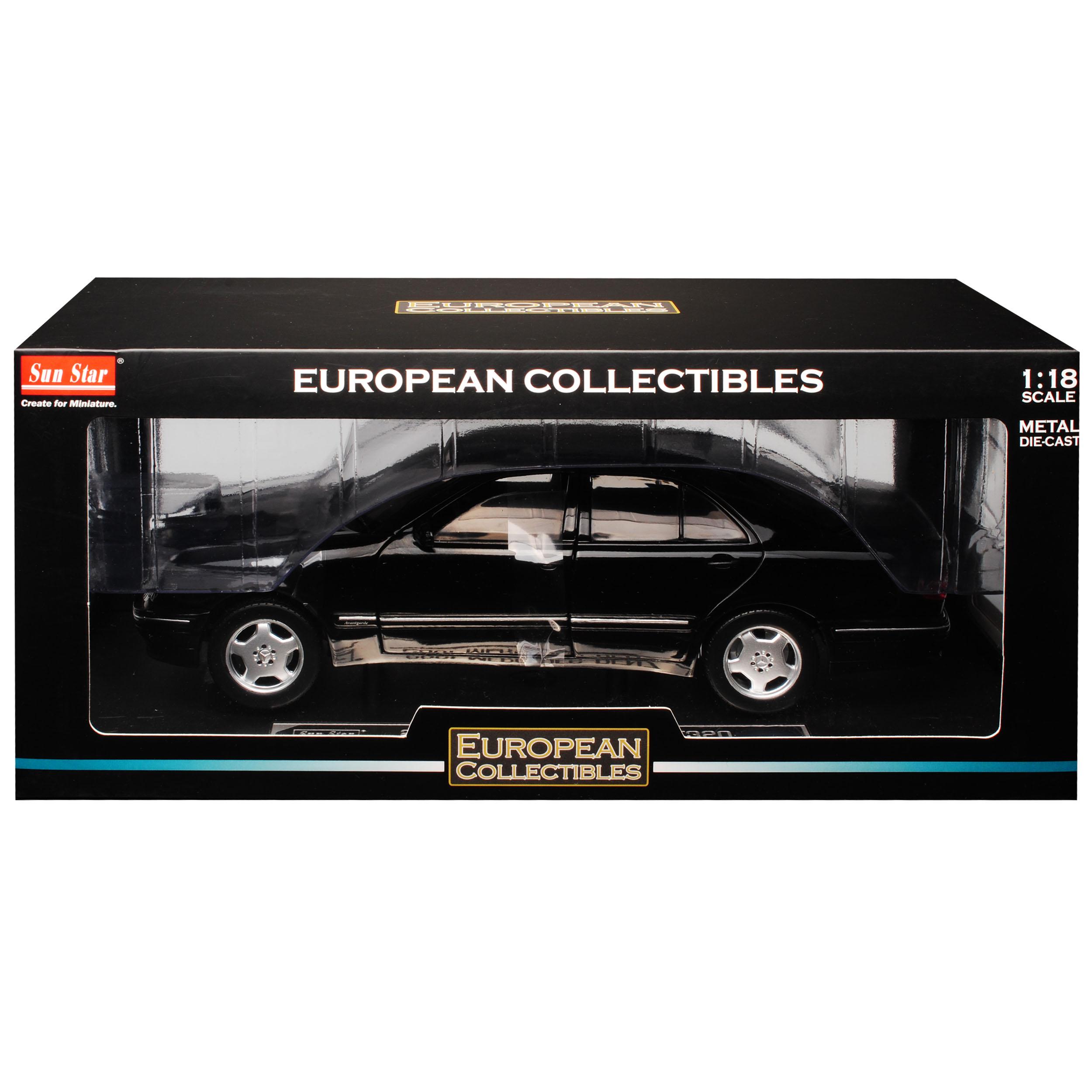 Mercedes-Benz E-Klasse W210 E320 Limousine Schwarz 1995-2002 1//18 Sun Star Mod..
