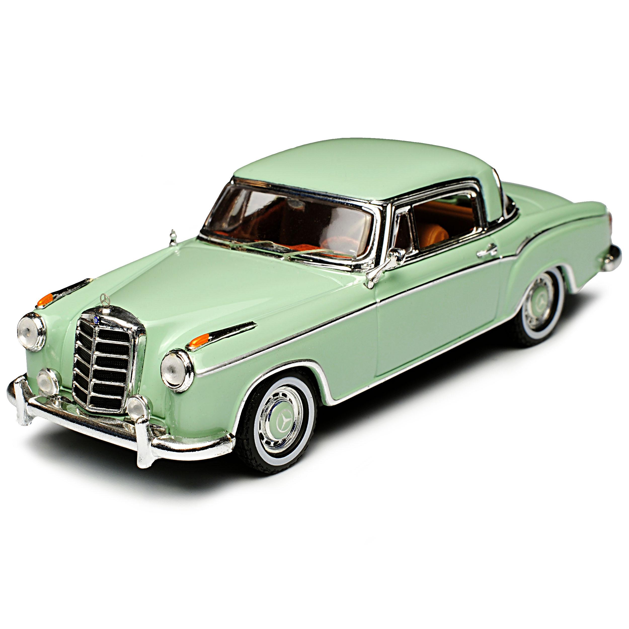 Mercedes-benz 220se Coupe verde claro pequeño Ponton w128 1954-1960 1//43 vitesse...