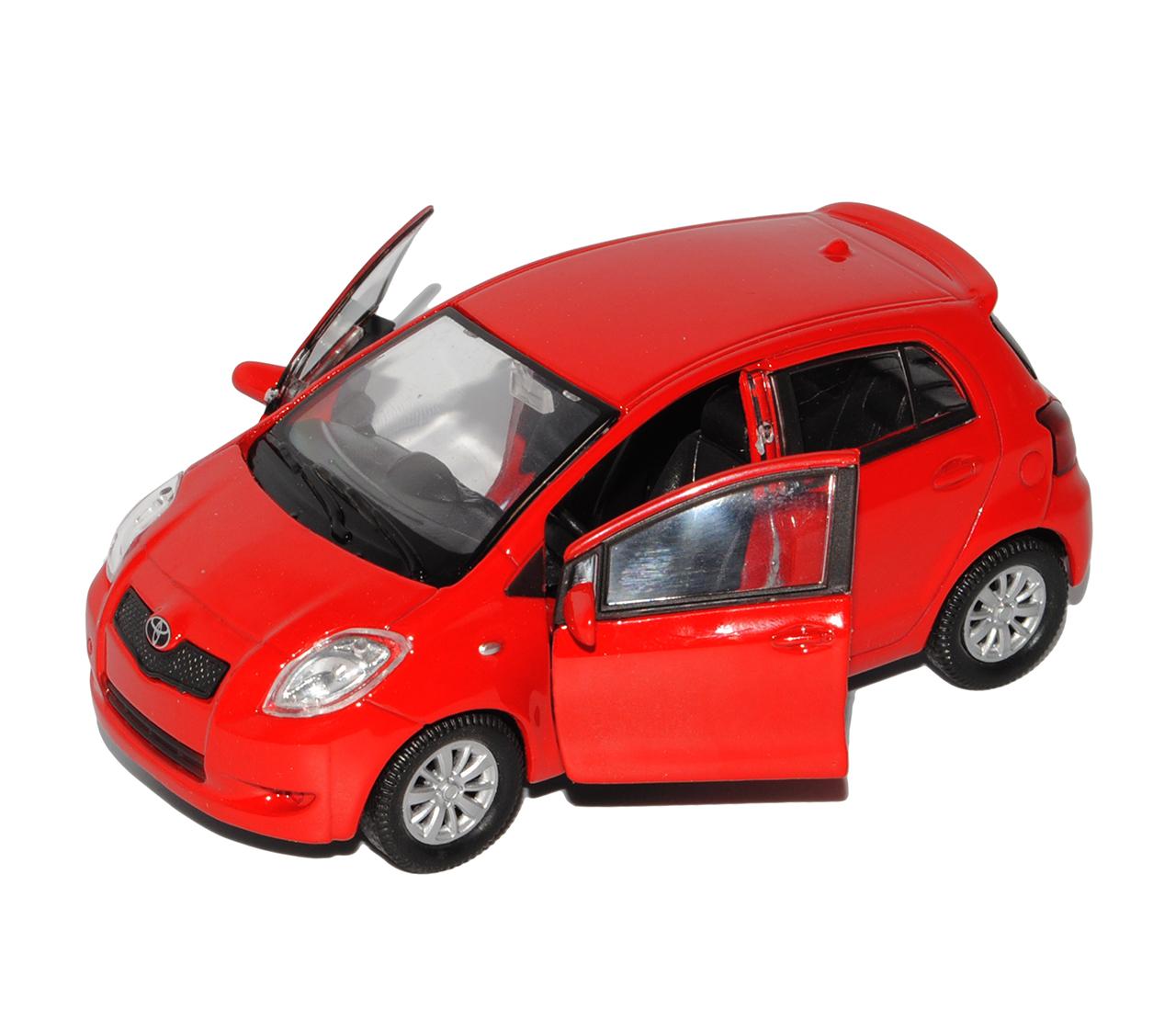 Toyota Yaris 5 Türer Rot XP9 2006-2011 ca 1//43 1//36-1//46 Welly Modell Auto mit..