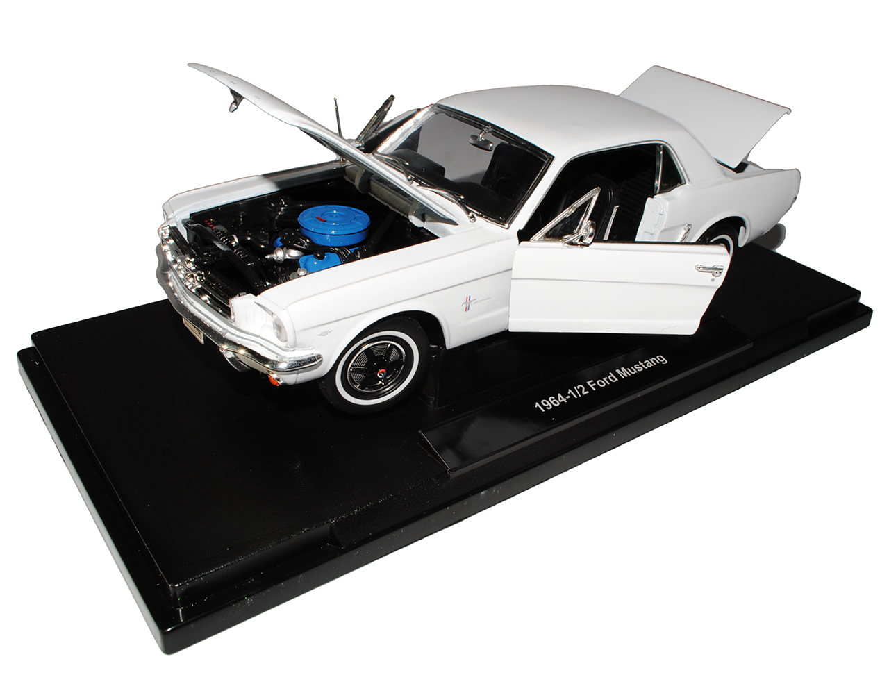 Ford Mustang I Weiss Coupe 1//2 1 Generation 1964-1966 1//18 Welly Modell Auto ..