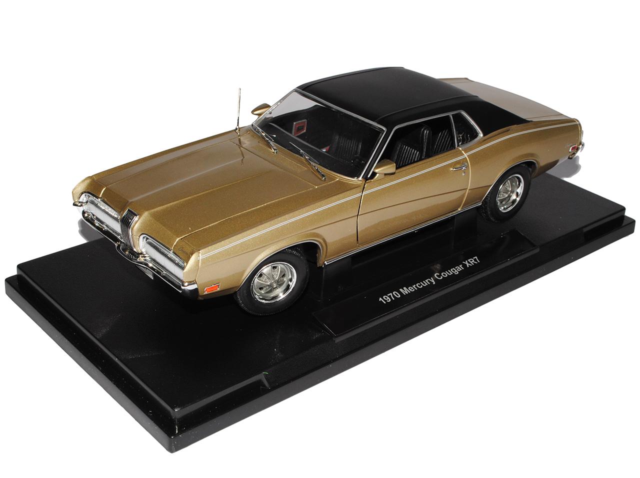 Ford Mercury Cougar XR7 oro 1970 Coupe 1//18 welly modelos de coches con o sin i...