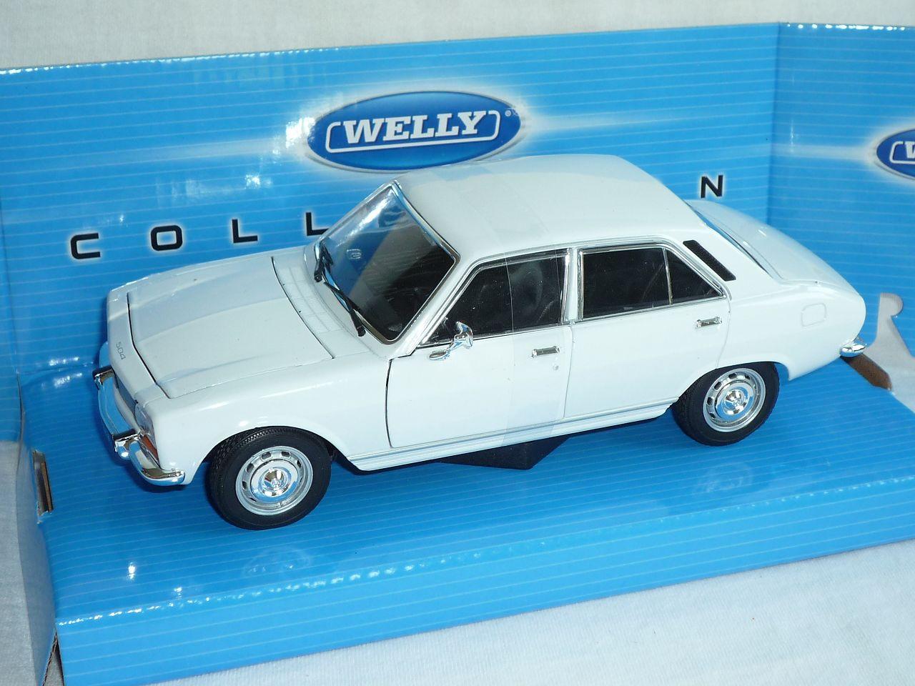 PEUGEOT-504-BERLINA-BIANCO-1975-1-24-Welly-Modello-Auto-con-o-senza-individi