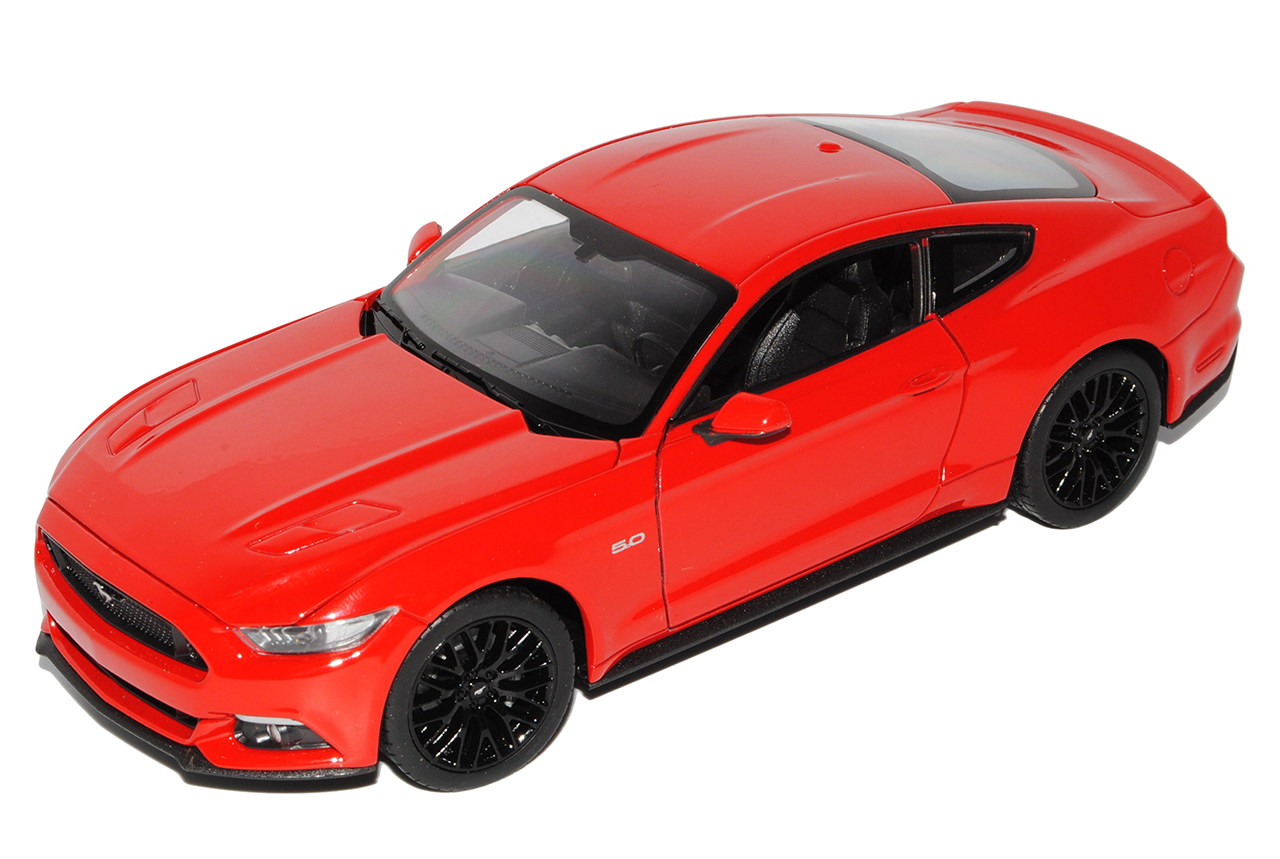 FORD Mustang vi COUPE rosso a partire dal 2014 1//24 Welly Modello Auto con o senza Individ...
