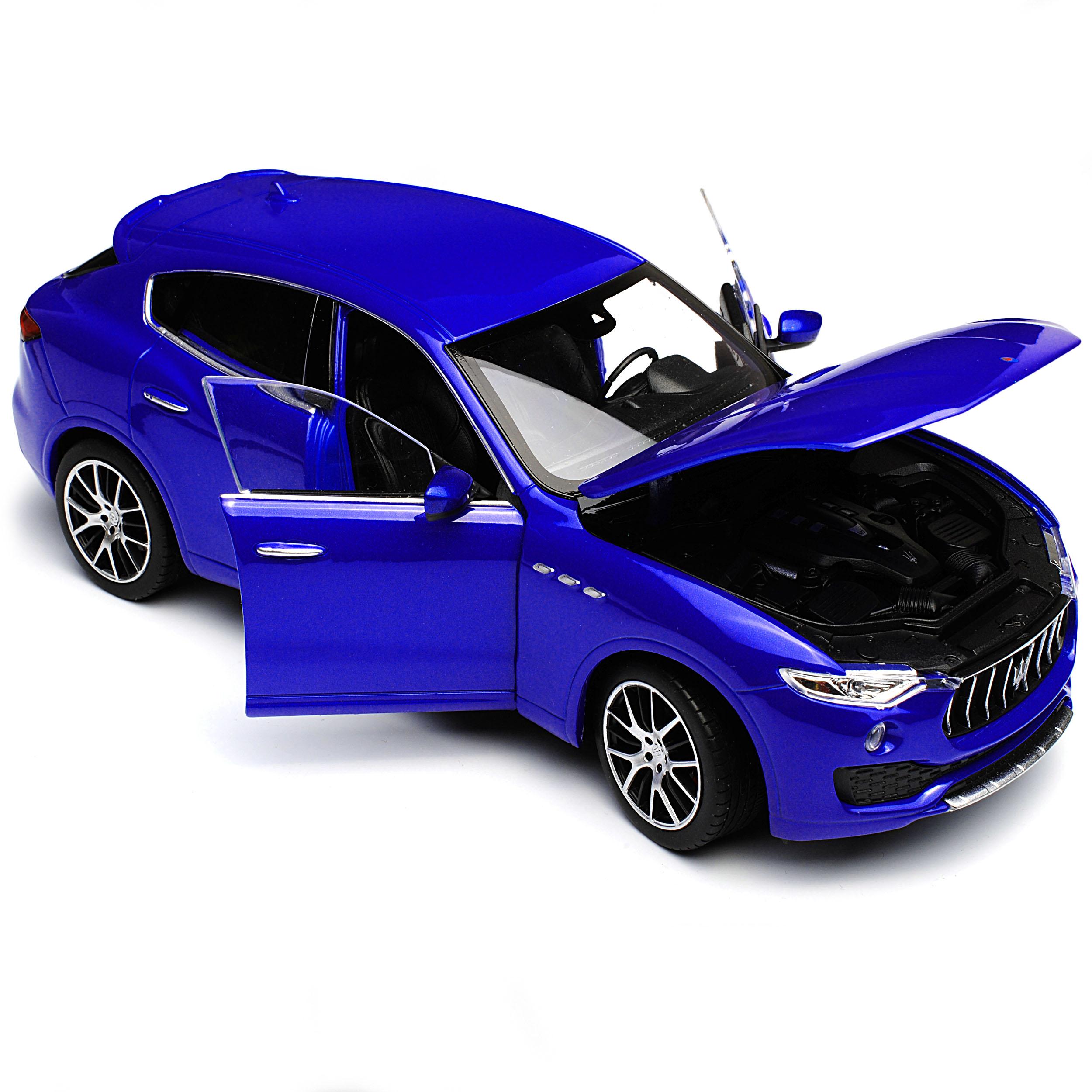 Maserati Levante SUV Blau Ab 2016 1//24 Welly Modell Auto mit oder ohne individ..