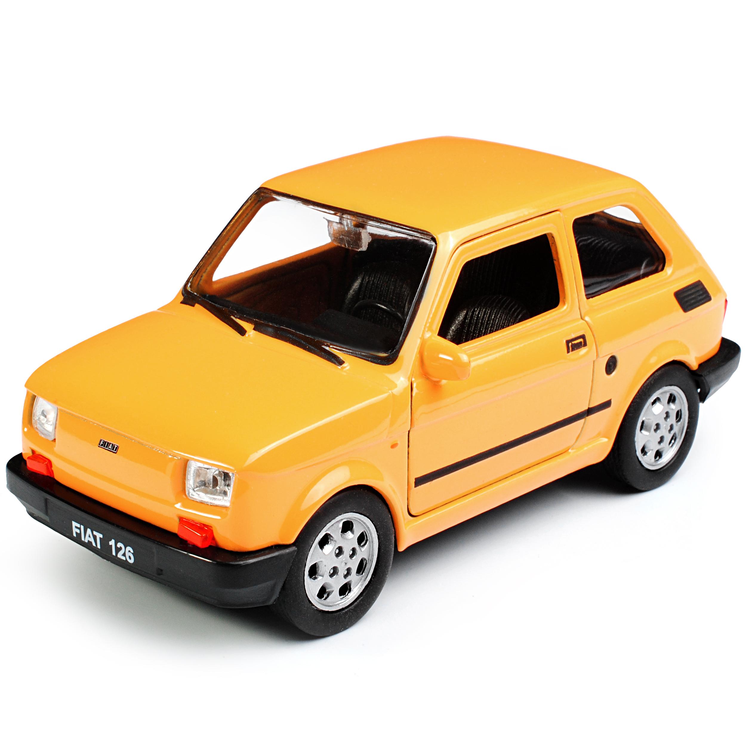 Fiat 126 amarillo idéntico Polski Fiat 126 p 1972-2000 ca 1 43 1//36-1//46 welly mod.