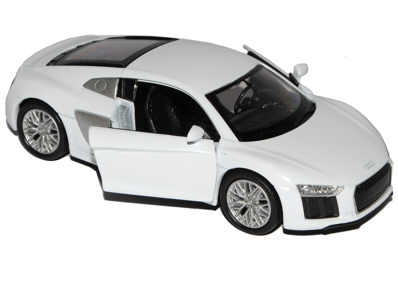 Generation ab 2015 ca 1//43 1//36-1//4.. Audi R8 V10 Coupe Weiss neuestes Modell 2