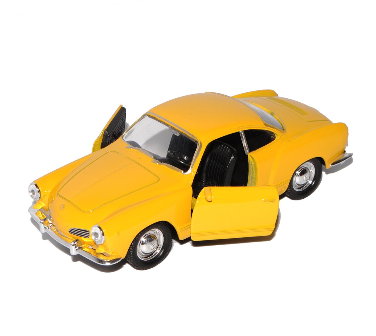 43 1//36-1//46 modelo welly auto con... VW Volkswagen Karmann Ghia Coupe amarillo ca 1