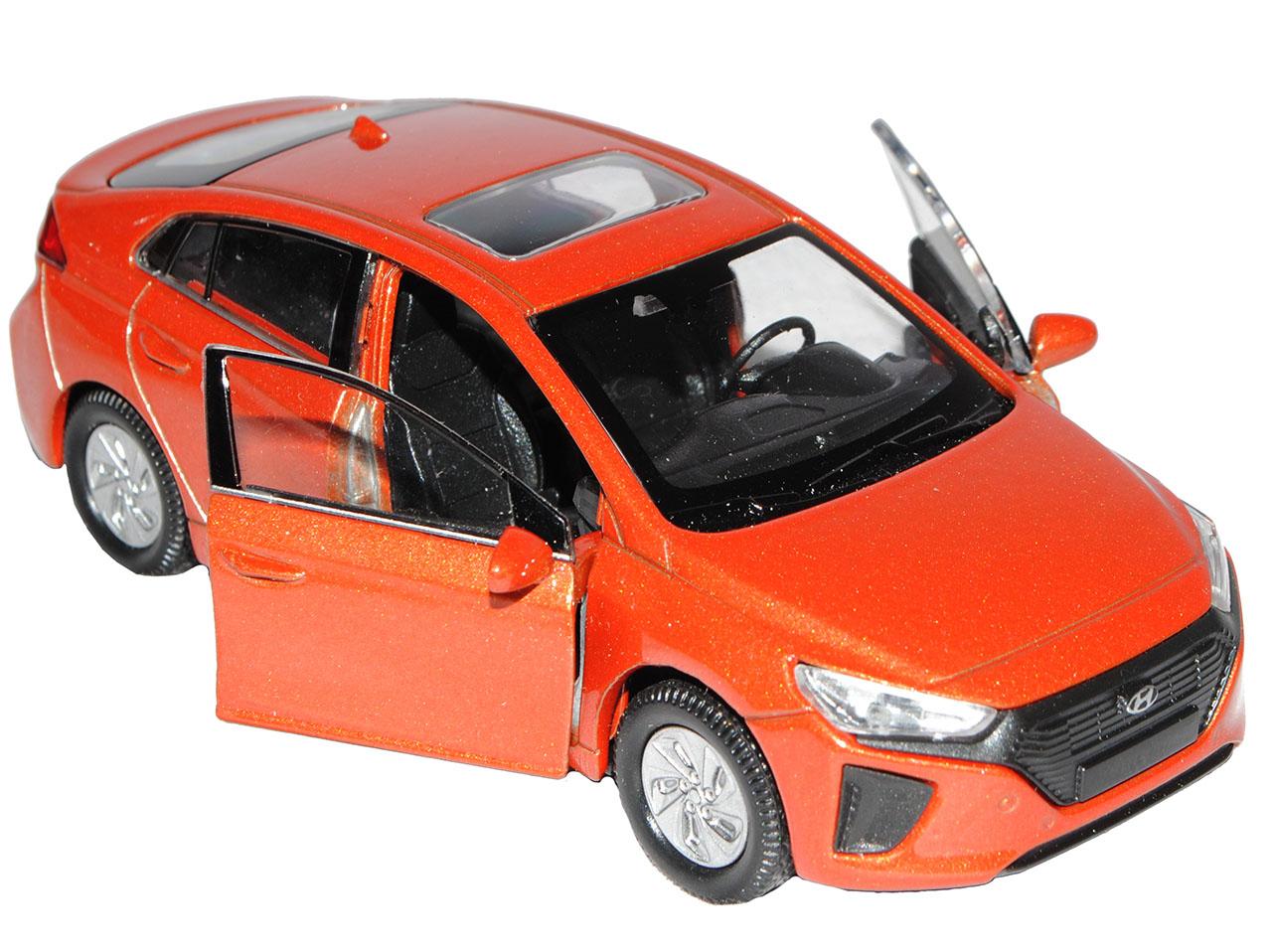 HYUNDAI ioniq Limousine arancione a partire dal 2016 ca 1//43 1//36-1//46 Welly Modello Auto con...