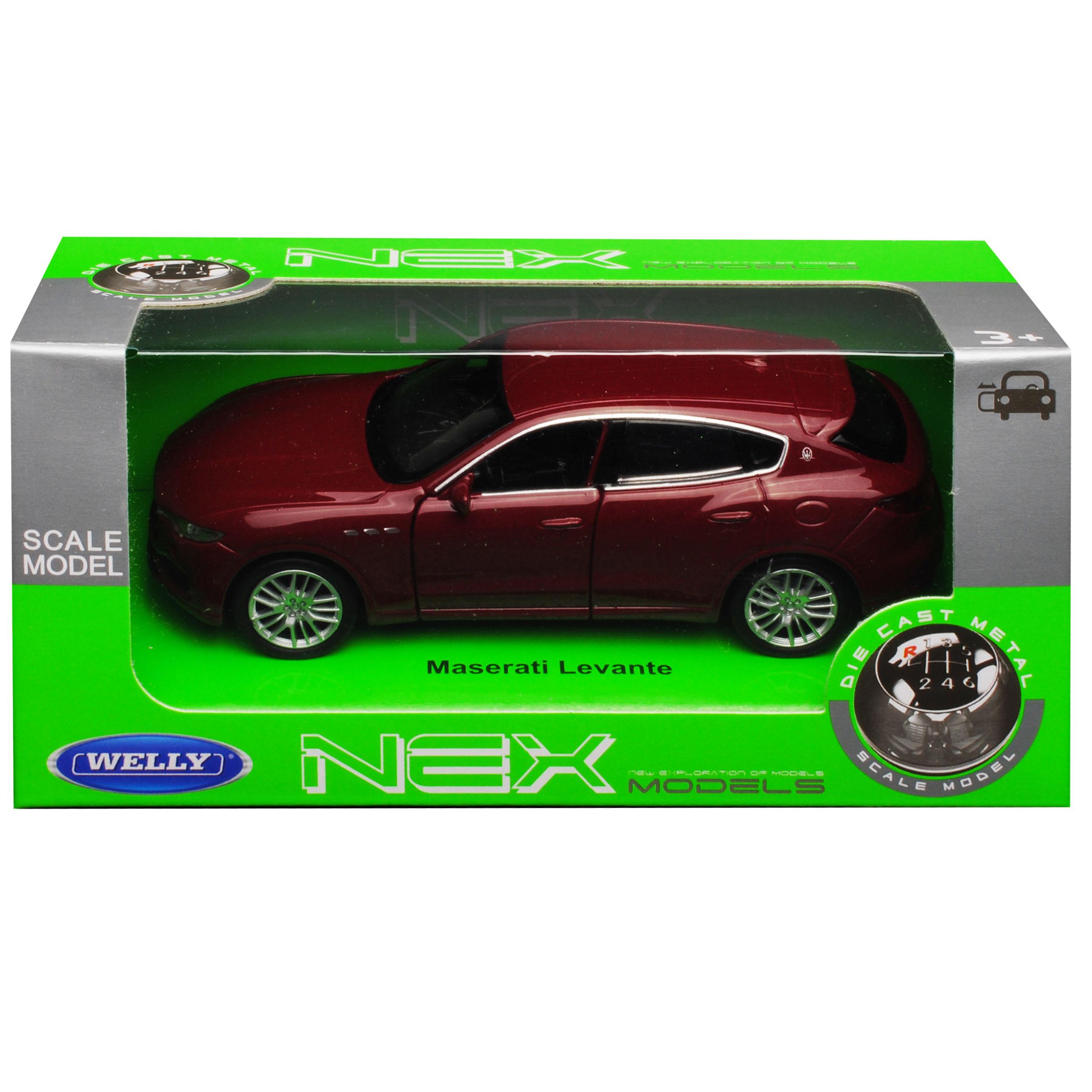 Maserati Levante SUV Dunkel Rot Ab 2016 ca 1//43 1//36-1//46 Welly Modell Auto mi..