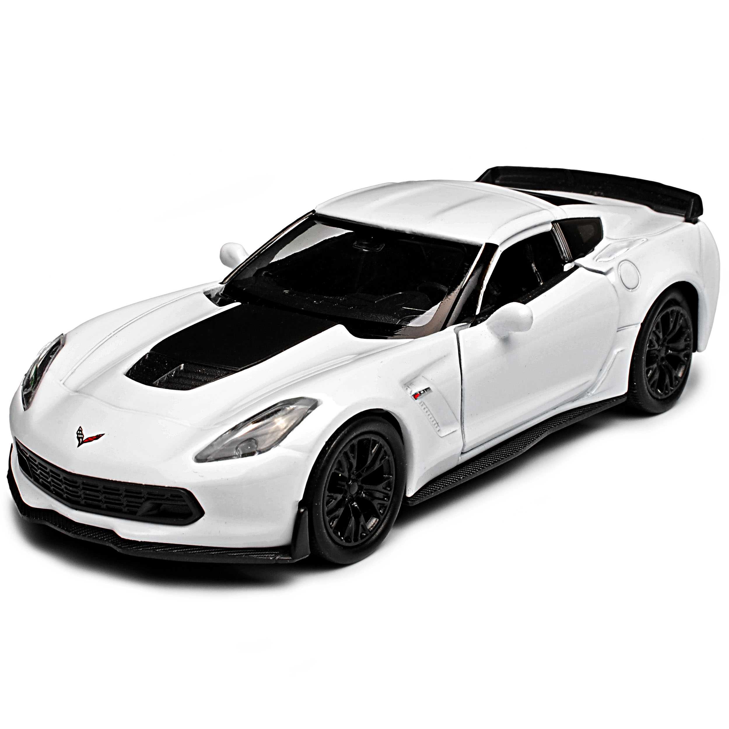 Chevrolet Corvette c7 z06 Coupe blanco con negro a partir de 2013 ca 1//43 1//36-1//46 we...