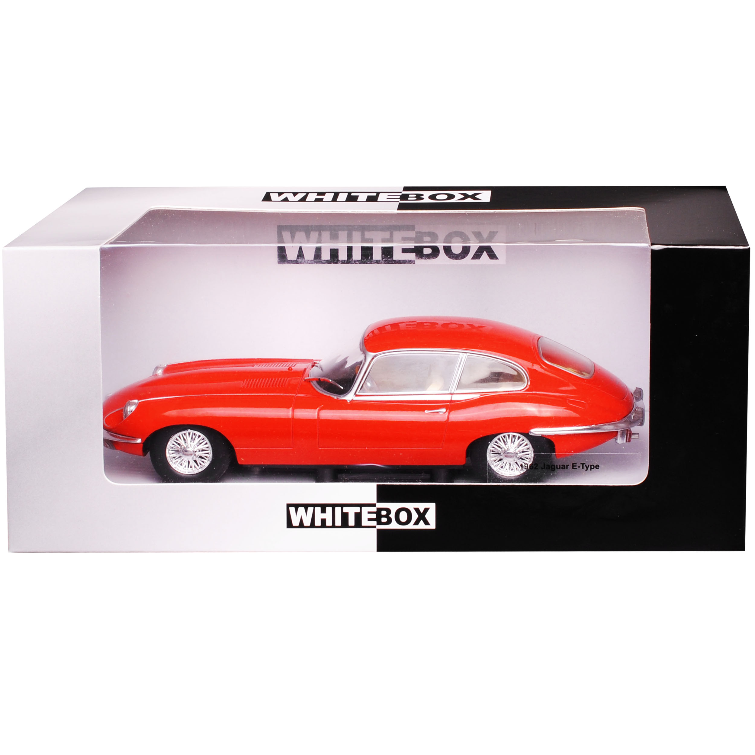 Jaguar E-Type Coupe Rot 1961-1974 1//24 Whitebox Modell Auto mit oder ohne indi..