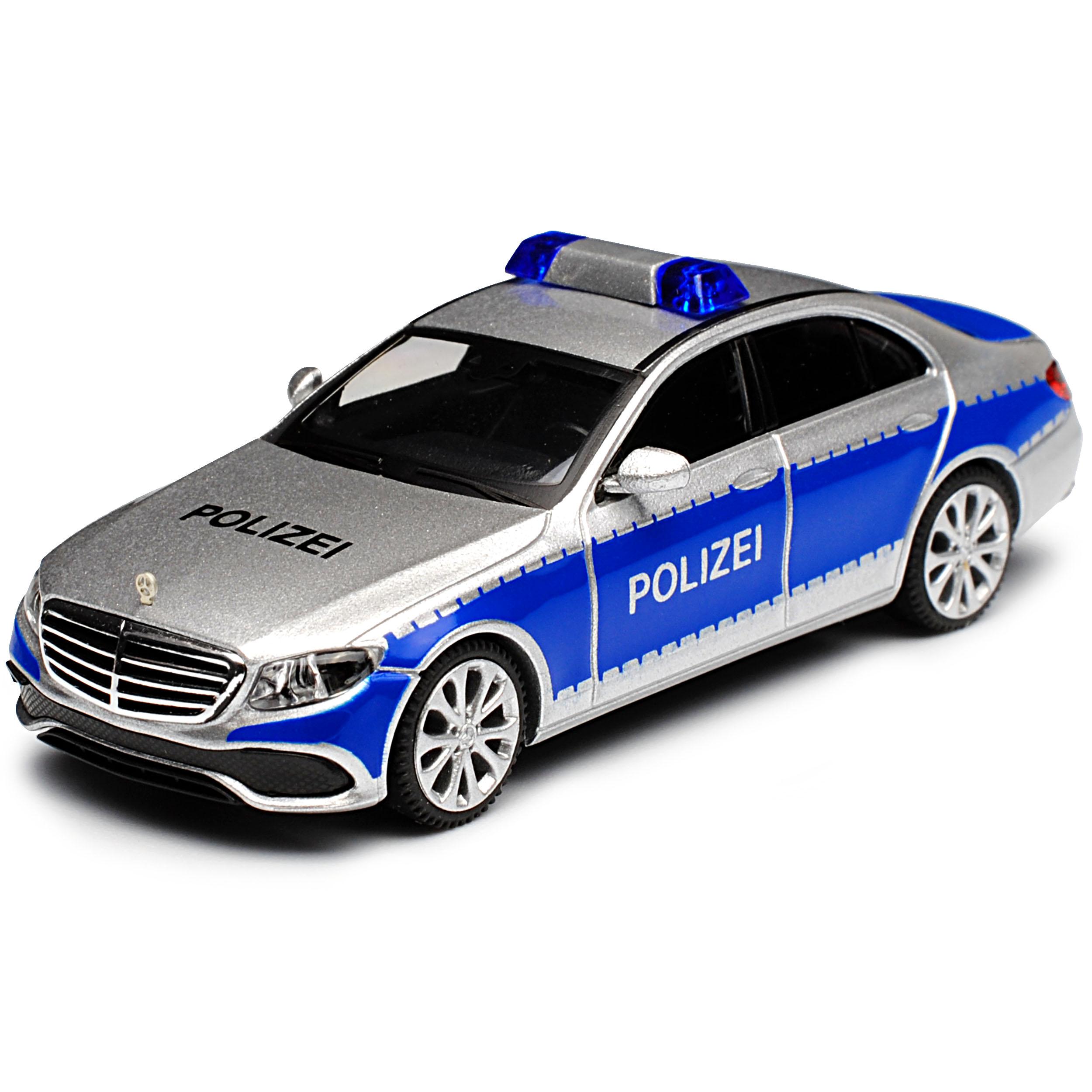MERCEDES-BENZ CLASSE E w213 Berlina Polizia argento blu a partire dal 2016 h0 1//87 wiki...