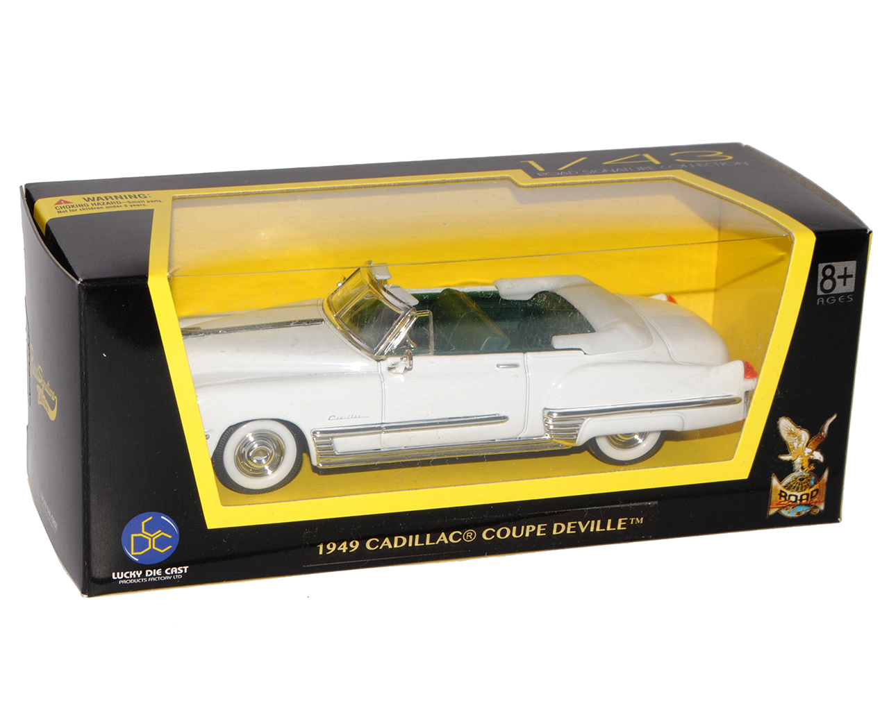 Cadillac Coupe DeVille Cabrio Weiss Elvis Presley 1949 1//43 Yatming Modell Aut..