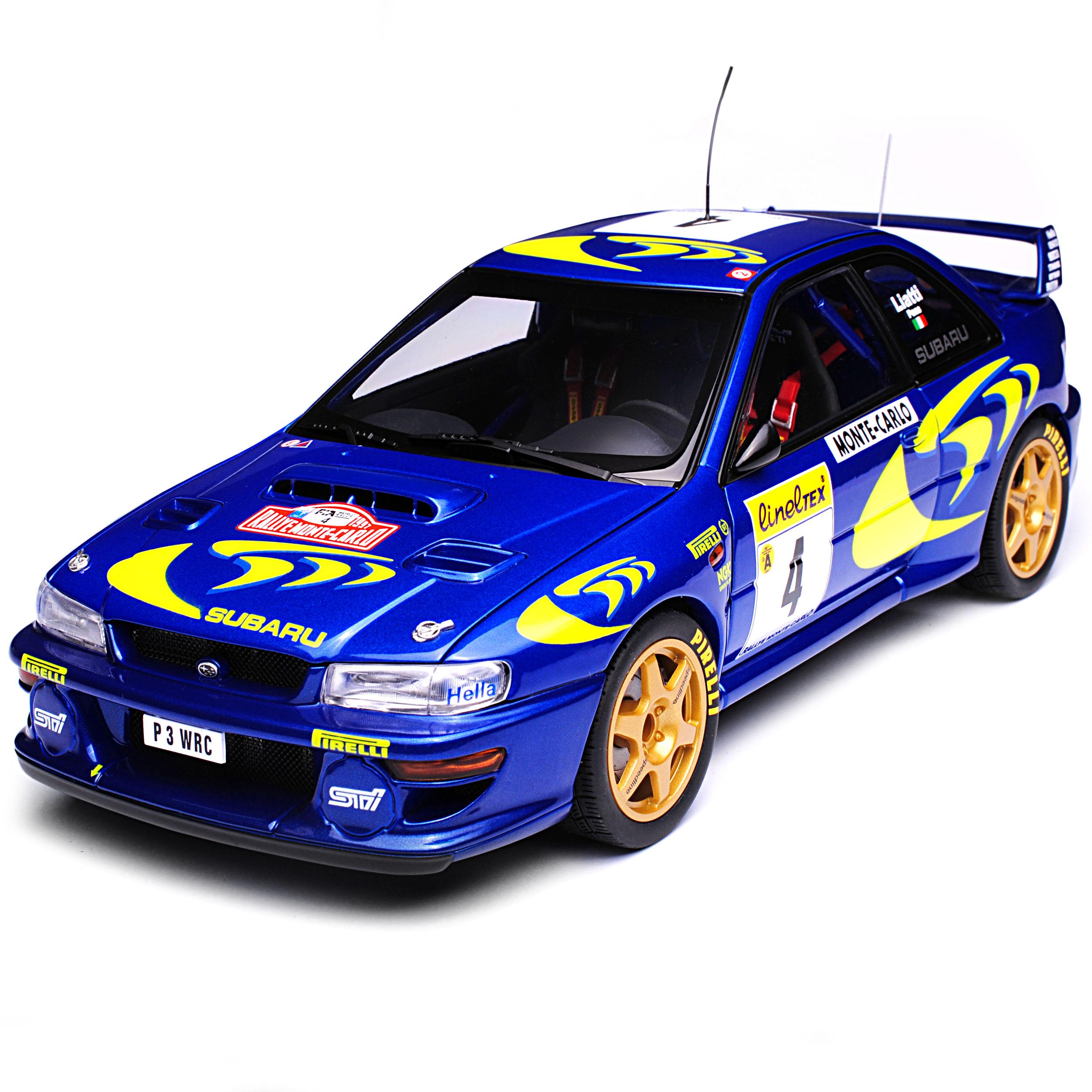 Subaru Impreza WRX STI WRC Liatti Gewinner Rally Rally Rally Monte Carlo Monaco 1997 89791..  | Leicht zu reinigende Oberfläche  436a00