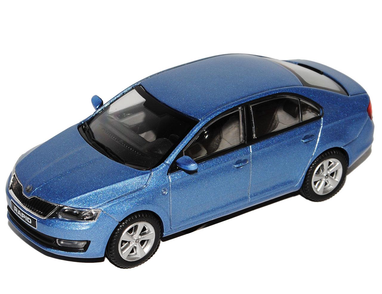 Skoda Rapid Limousine Denim Blau Ab 2012 NH ABR171ABD022KM 1//72 Abrex Modell A..