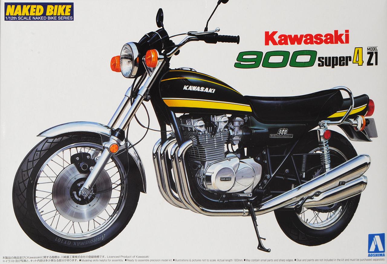 Kawasaki 900 Super 4 Z1 Gelb Schwarz Schwarz Schwarz 1975 040980 Kit Bausatz 1 12 Aoshima Mode.. 095534