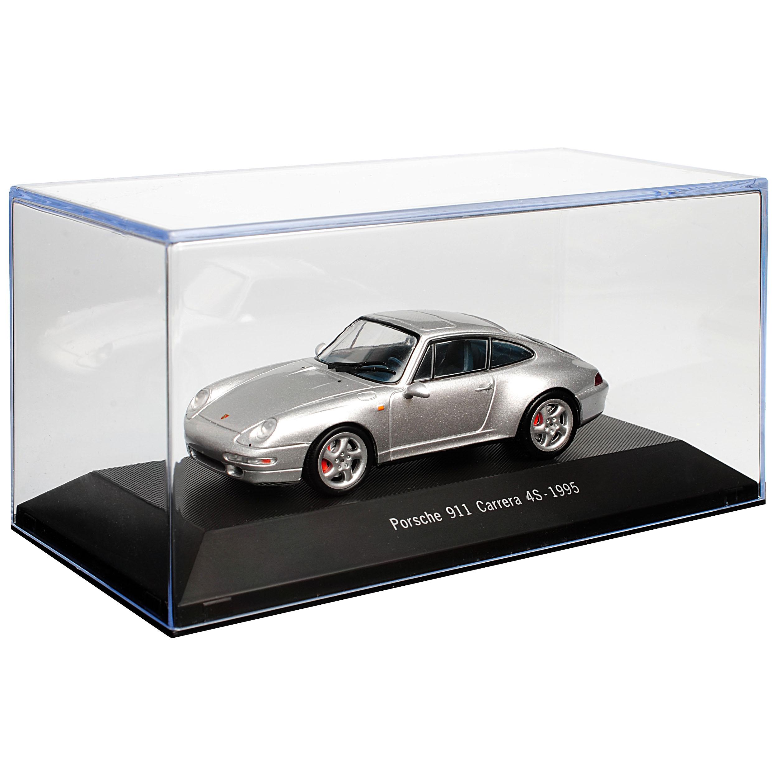 Porsche Porsche Porsche 911 993 Carrera 4 S Coupe Argent 1993-1998 1 43 ATLAS Modèle Voiture Avec O.. 854cc5