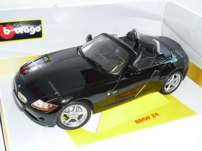 bmw z4 e85 cabrio schwarz roadster 2002 2008 1 18 bburago. Black Bedroom Furniture Sets. Home Design Ideas