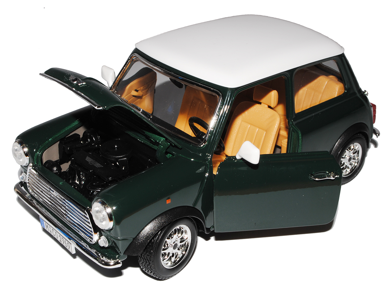 mini cooper altes ur modell gr n mit wei em dach 1959 2000. Black Bedroom Furniture Sets. Home Design Ideas