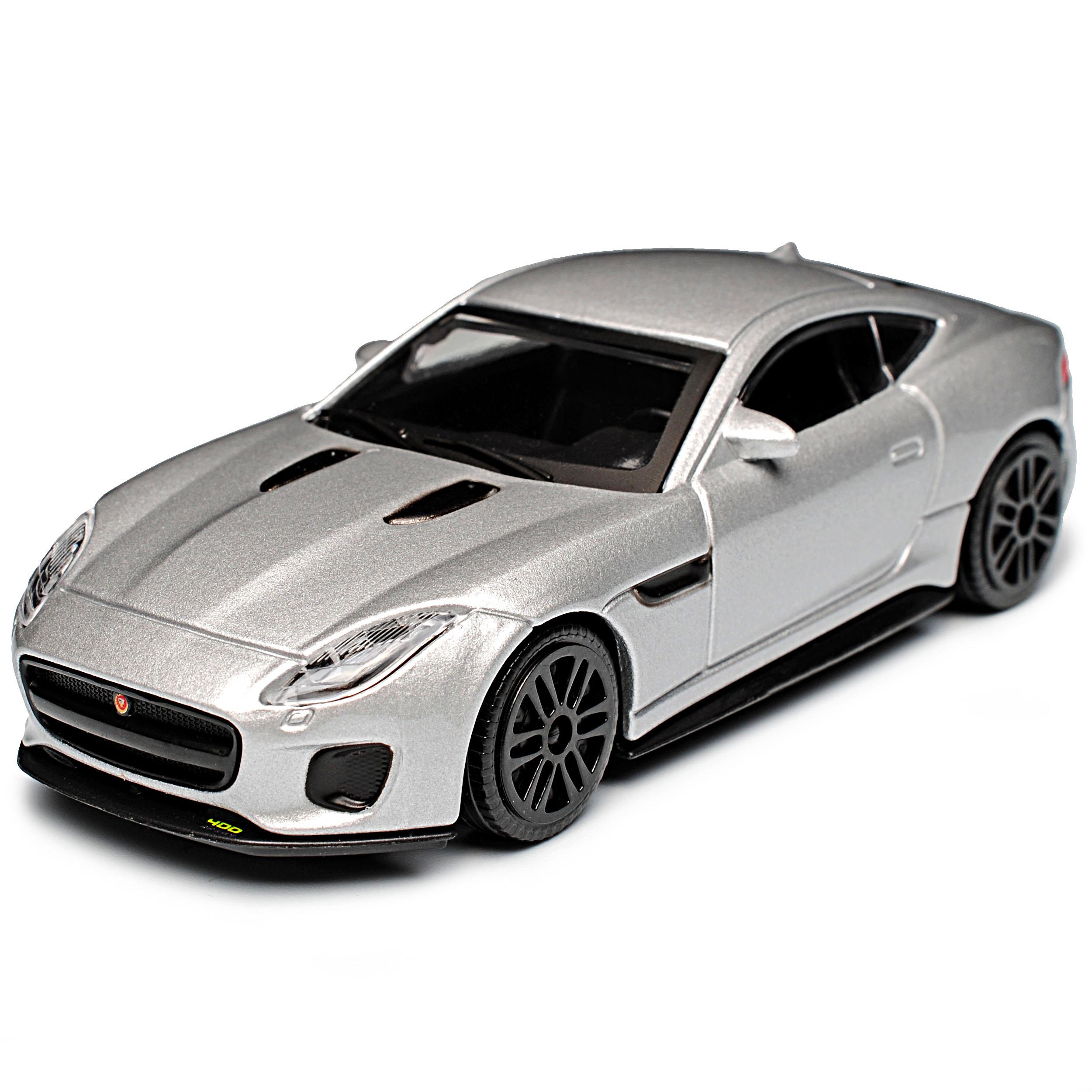 Jaguar F-Type Coupe Silber Ab 2013 1//43 Bburago Modell Auto mit oder ohne indi..