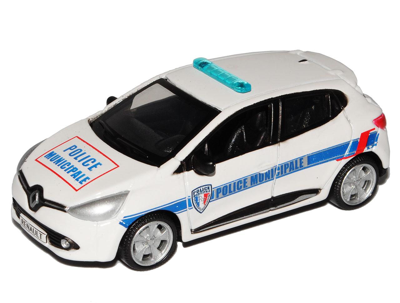 Renault Clio IV Weiss Police Municipale Polizei 5 Türer Typ X98 Ab 2012 1//64 B..