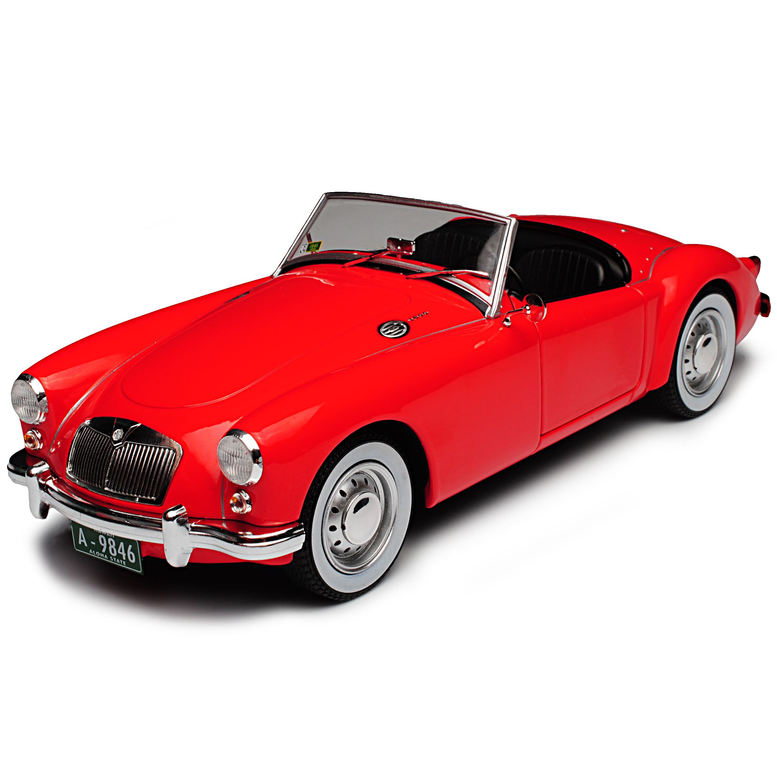 Mg a MGA MKII a1600 ROADSTER Cabrio Rosso Elvis Presley 1955-1962 1//18 greenligh...