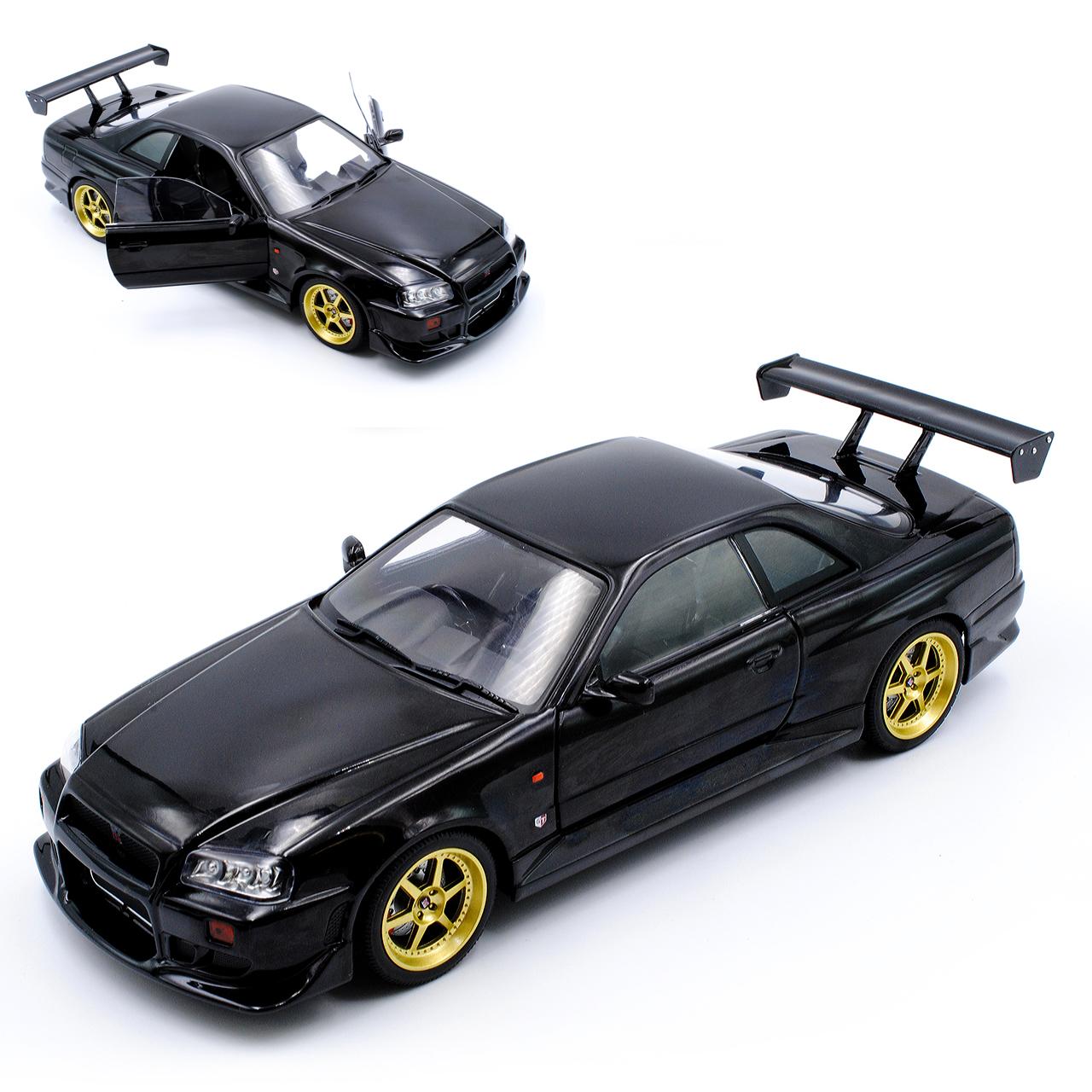 NISSAN Skyline r34 GT-R NERO 1998-2002 1/18 verdeLIGHT AUTO modello o con