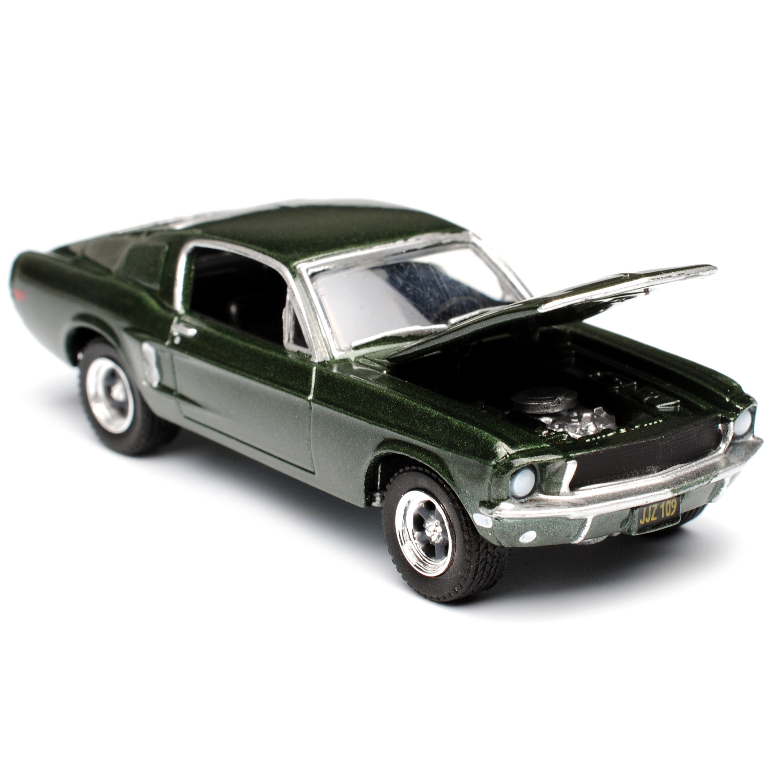 Ford Mustang Bullitt green Coupe in 1 1 1 64 mit Figur Steve McQueen in 1 18 Greenl.. 525ea2