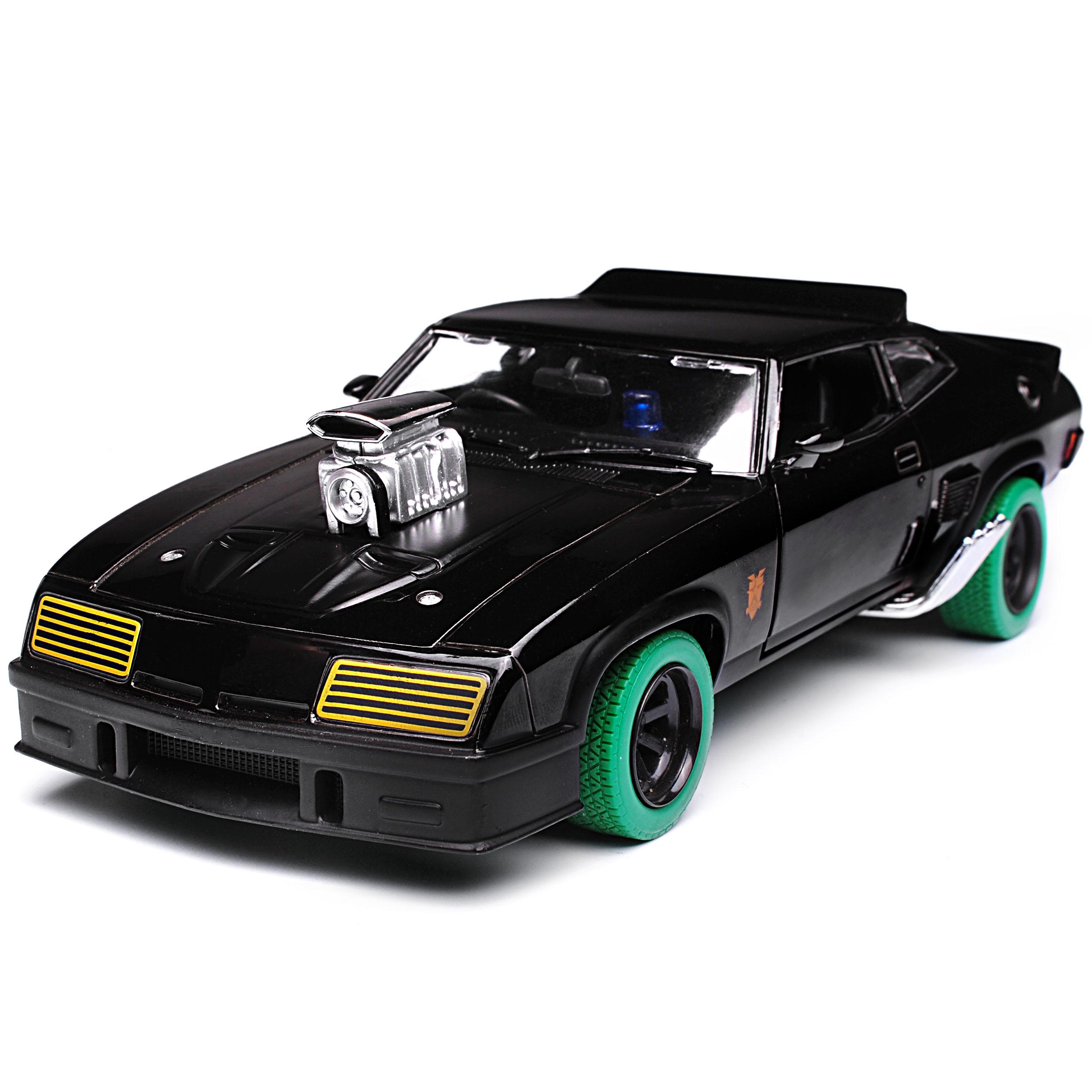 Ford-xb-Falcon-tuned-version-Mad-Max-II-2-Black-interceptor-negro-con-Gruene miniatura 8