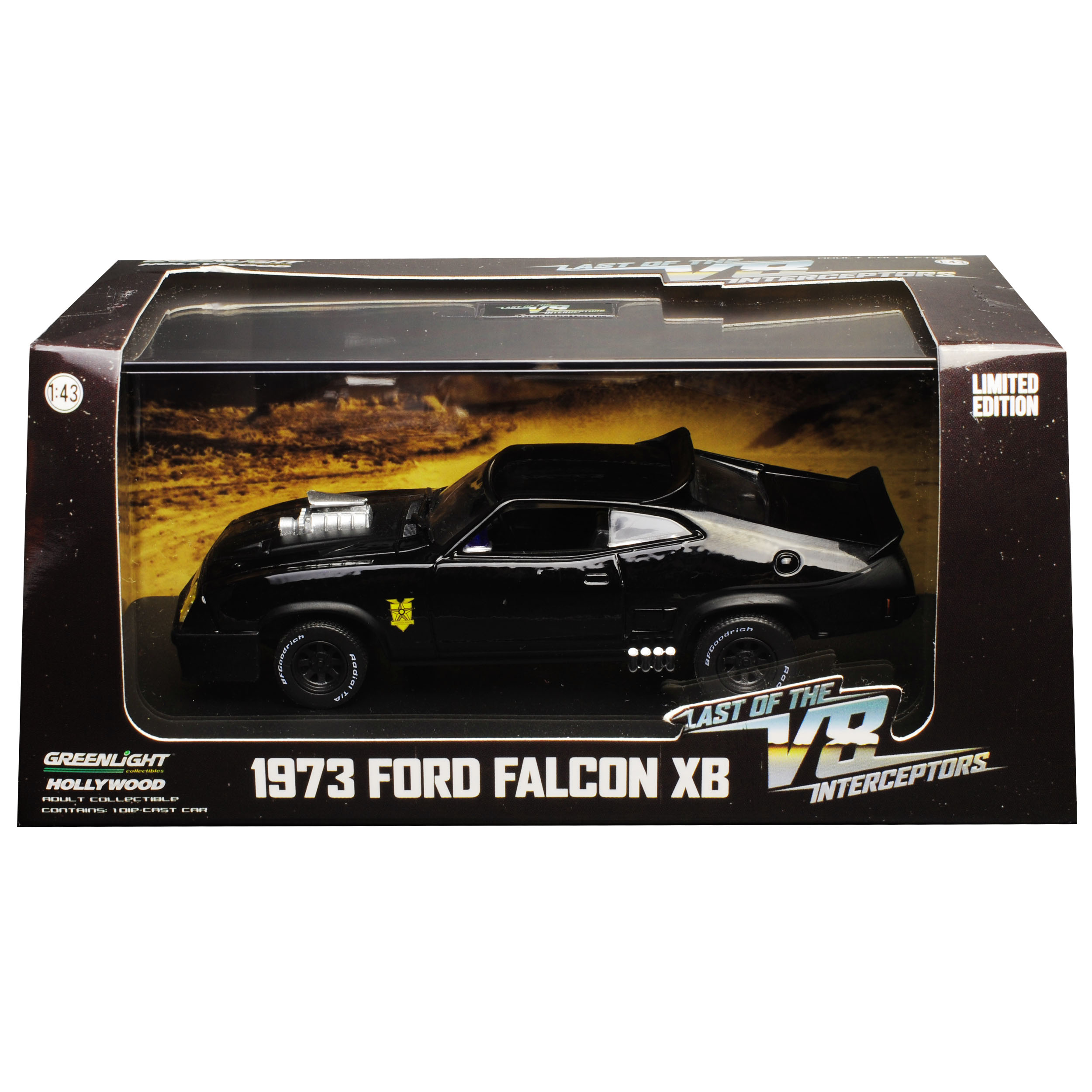 Ford-xb-Falcon-tuned-version-Mad-Max-II-2-Black-interceptor-negro-1973-1-43 miniatura 10
