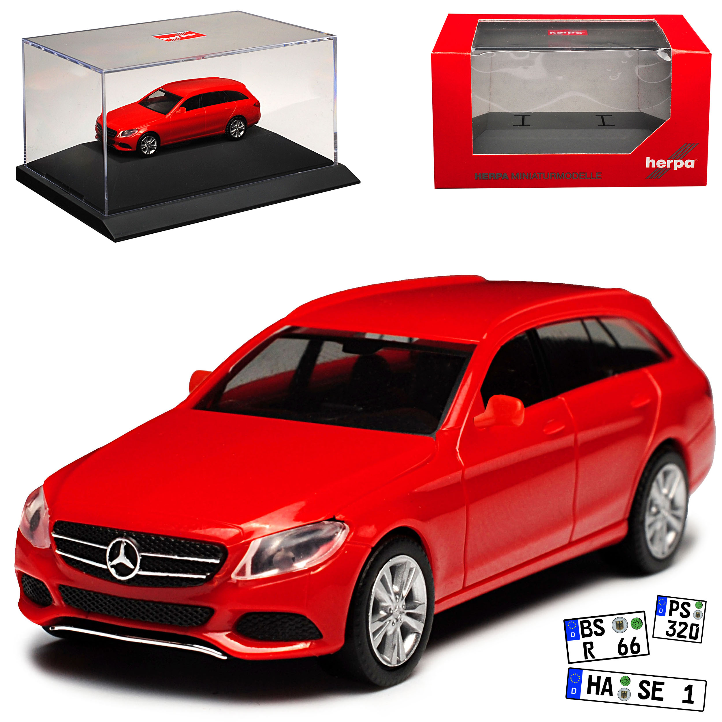 Mercedes-Benz-Classe-C-Modele-T-W205-Break-Rouge-Ab-2014-Kit-Kit-avec-Socle